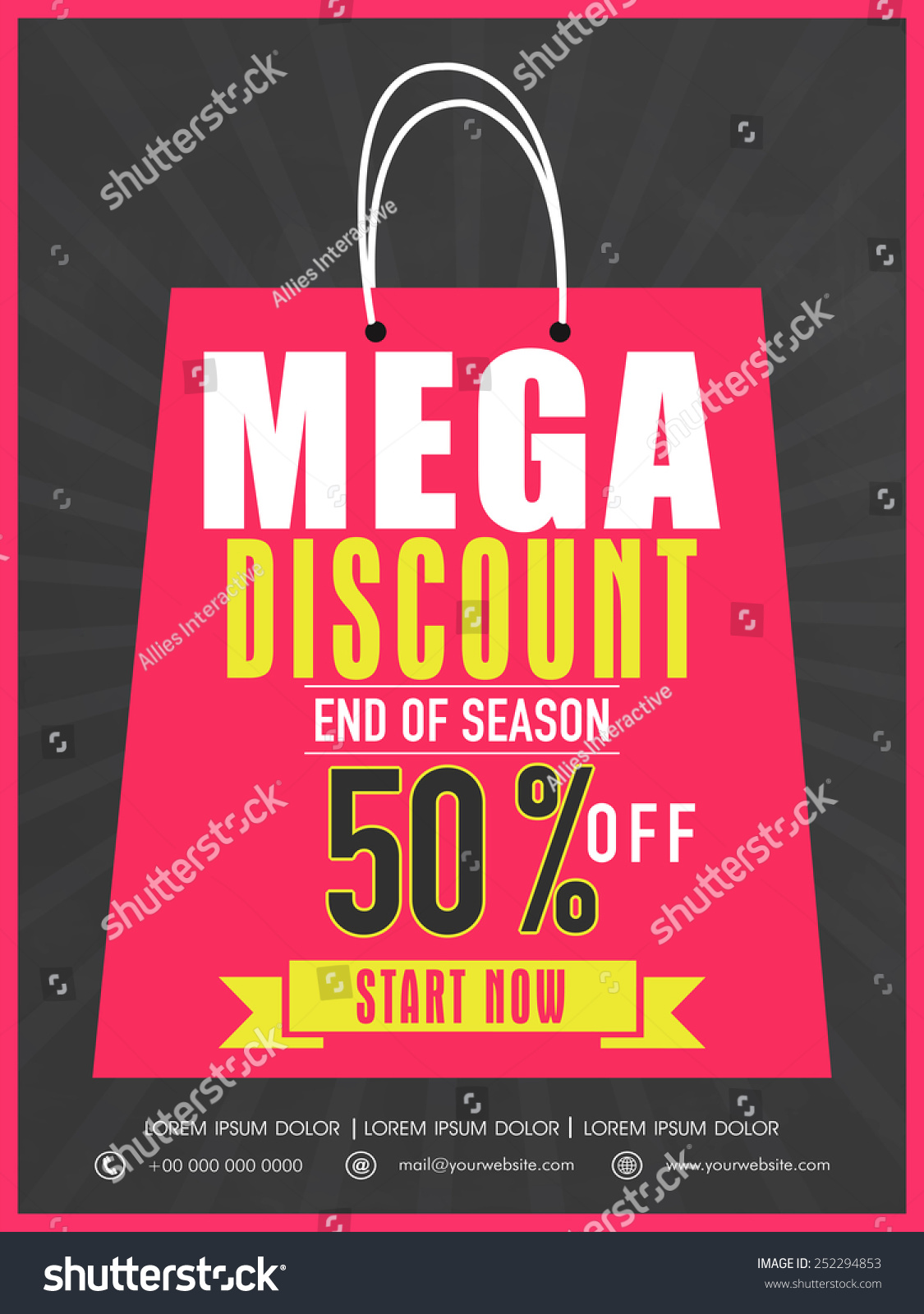 end season flyer banner template stock vector  end of season flyer banner or template design mega discount