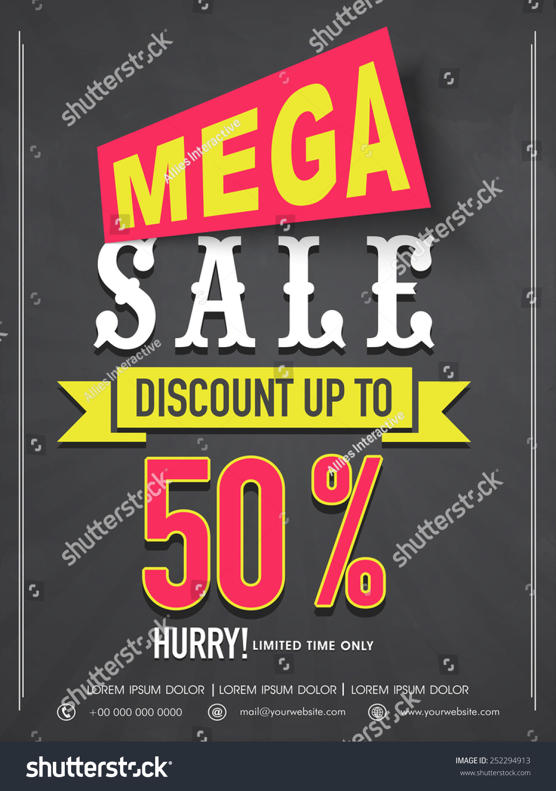 mega flyer banner template design stock vector  mega flyer banner or template design best discount offer for your business