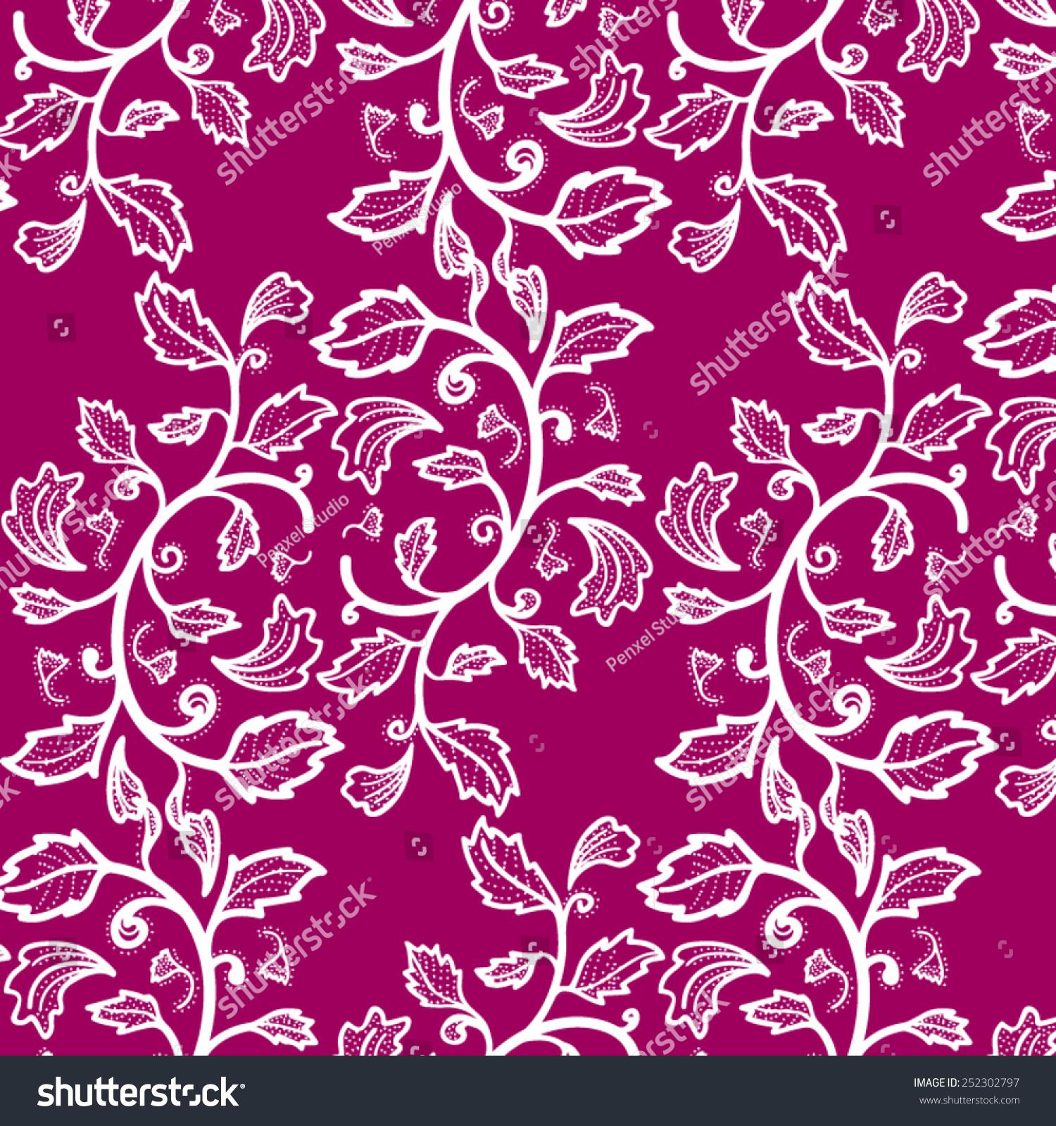 Gambar Batik Flower Stock Images Royalty Free Vectors