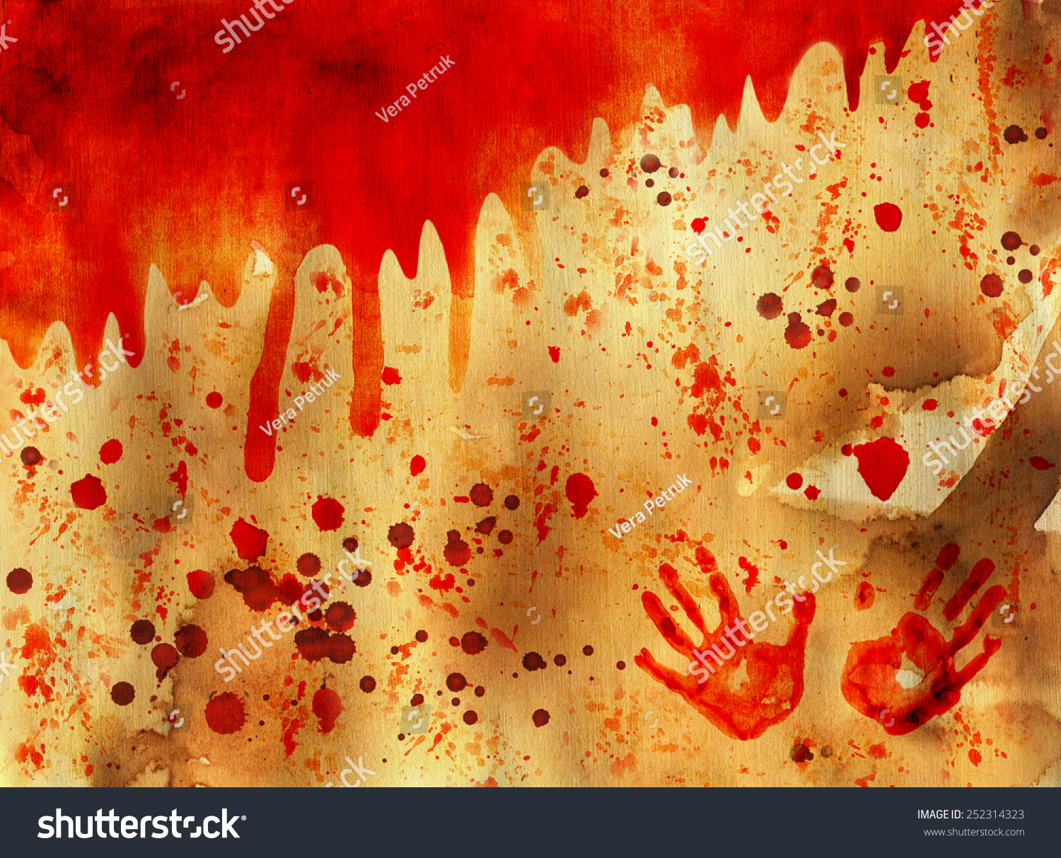 Bloody Halloween Background Shabby Paper Texture Stock Photo Edit Now 252314323