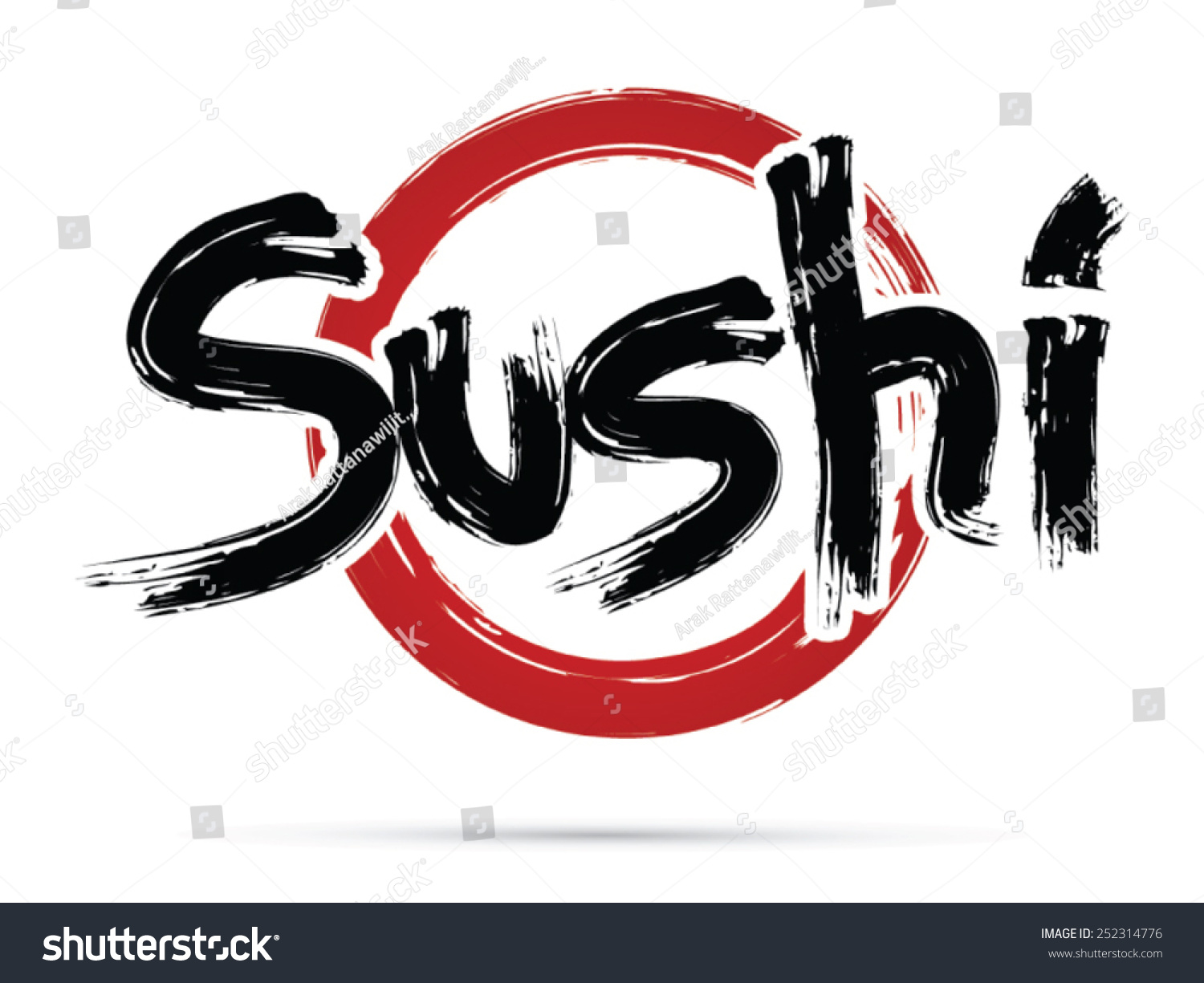 Sushi text design using freestyle grunge stock vector 252314776 sushi text design using freestyle grunge brush japanese restaurant logo symbol buycottarizona Image collections