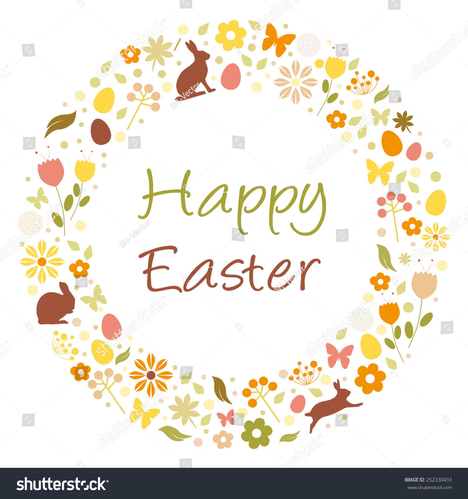 Happy Easter Stock Vector Illustration 252330433 ...