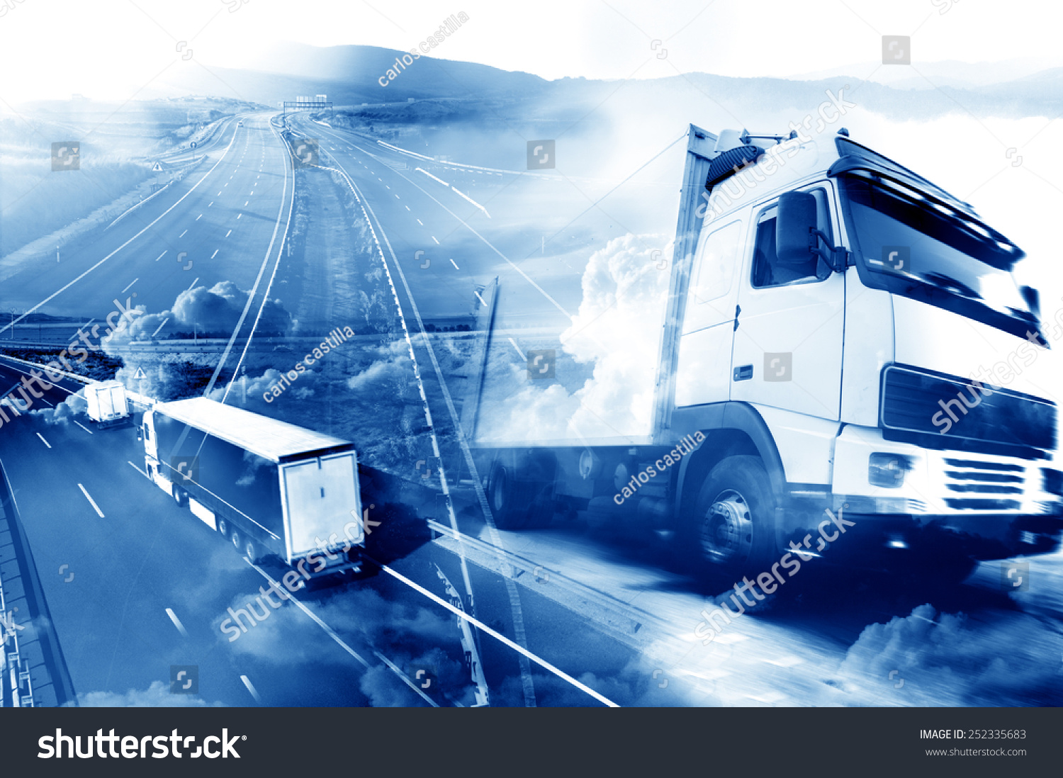 Abstract Design Background Trucks Transporthighway