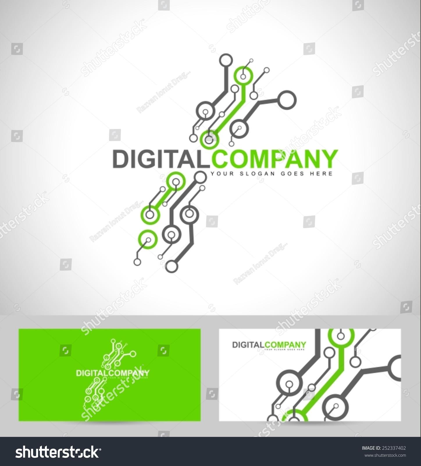 Digital Electronics Logo Design Creative Electronic Stock Vector Circuit Diagram Also Schematic Diagrams On Circuits
