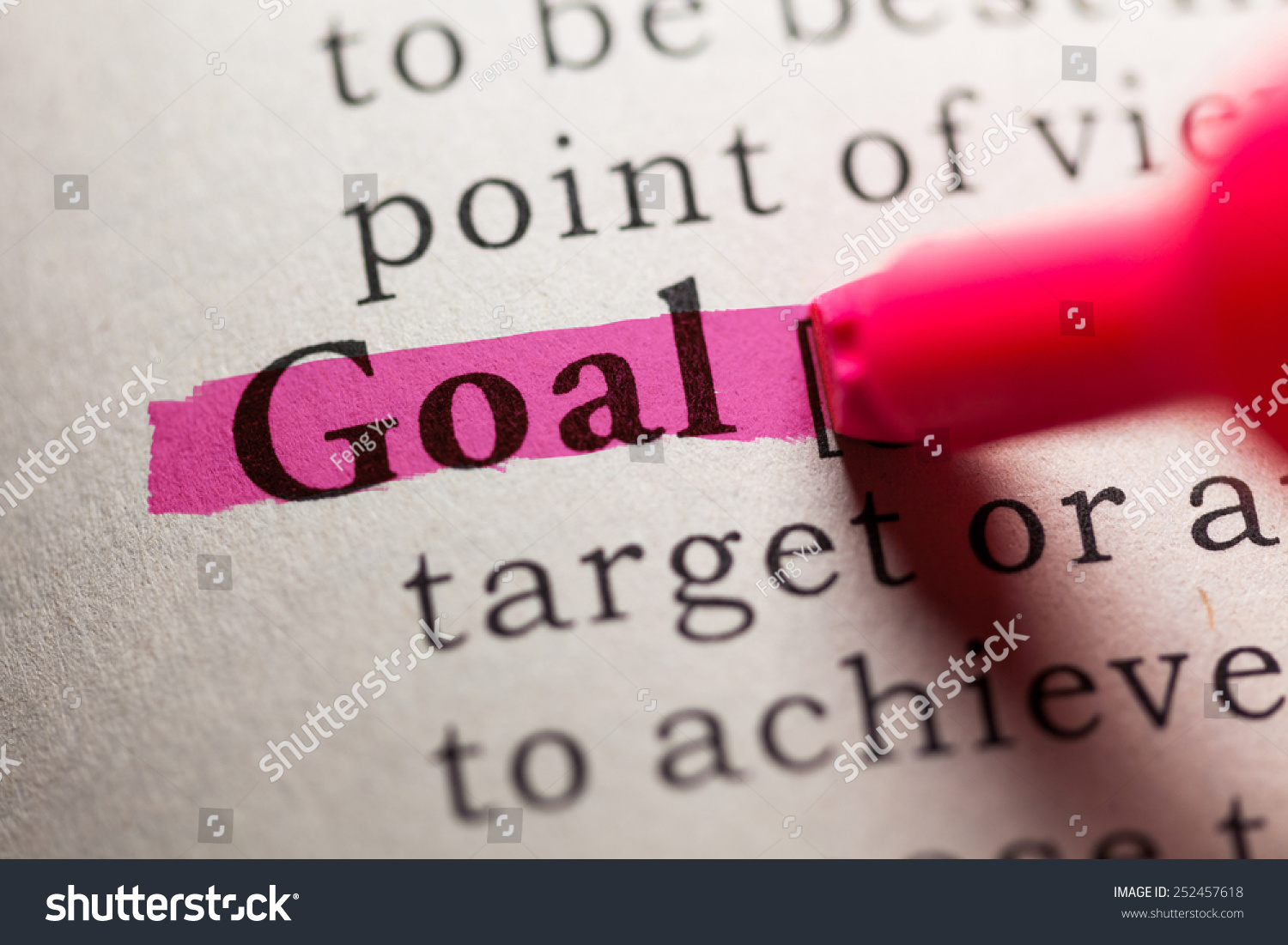 Fake Dictionary Definition Word Goal Stock Photo (Edit Now