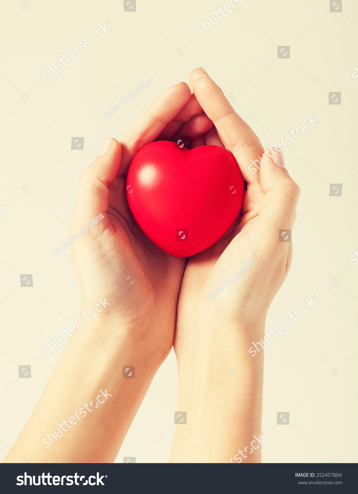 Close Woman Hands Heart Stock Photo 252457804 - Shutterstock