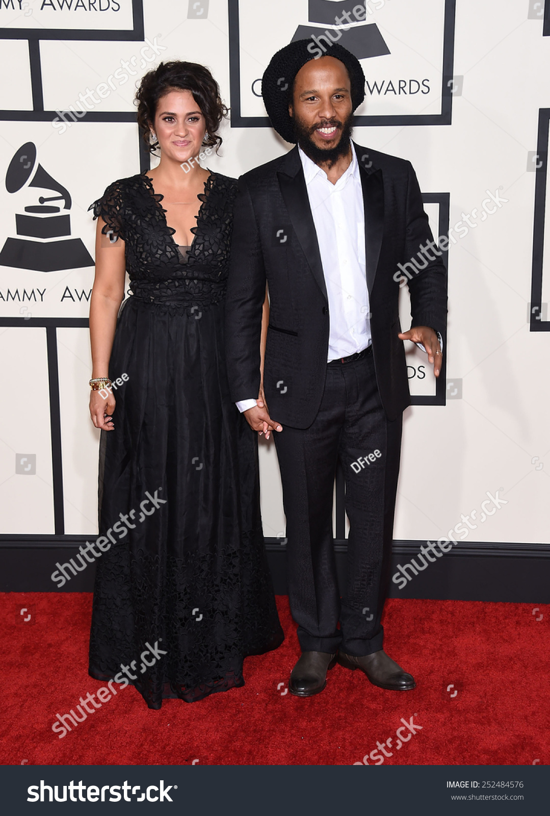 LOS ANGELES FEB 08 Ziggy Marley arrives to the Grammy Awards 2015 on February 8 2015 in Los Angeles CA