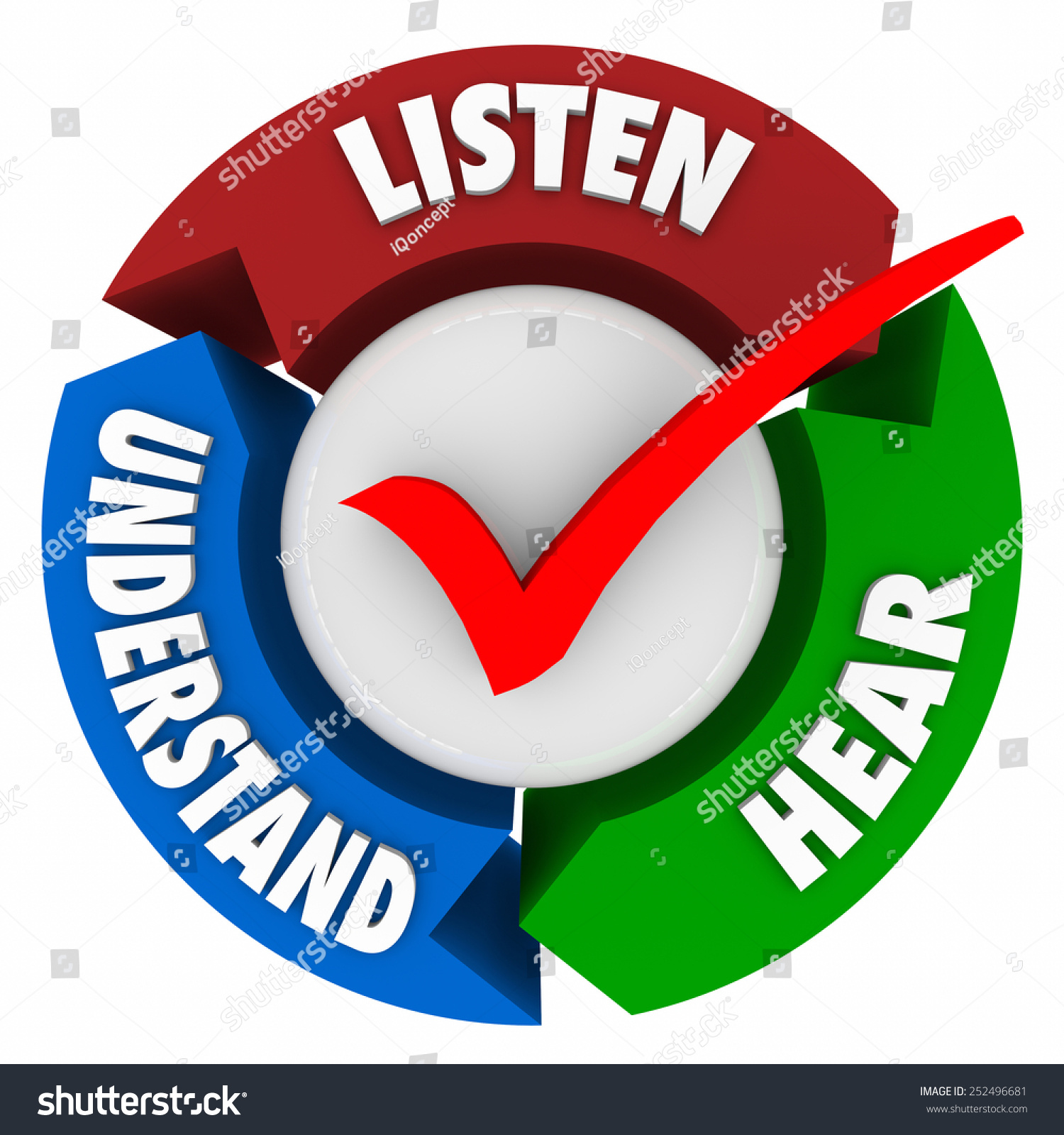 Understand By Comprehension Stock Photo Listen Hear And Understand Words On