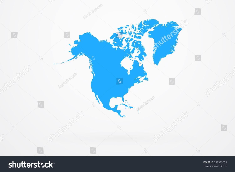 north america continent map vectores en stock 252533053 shutterstock