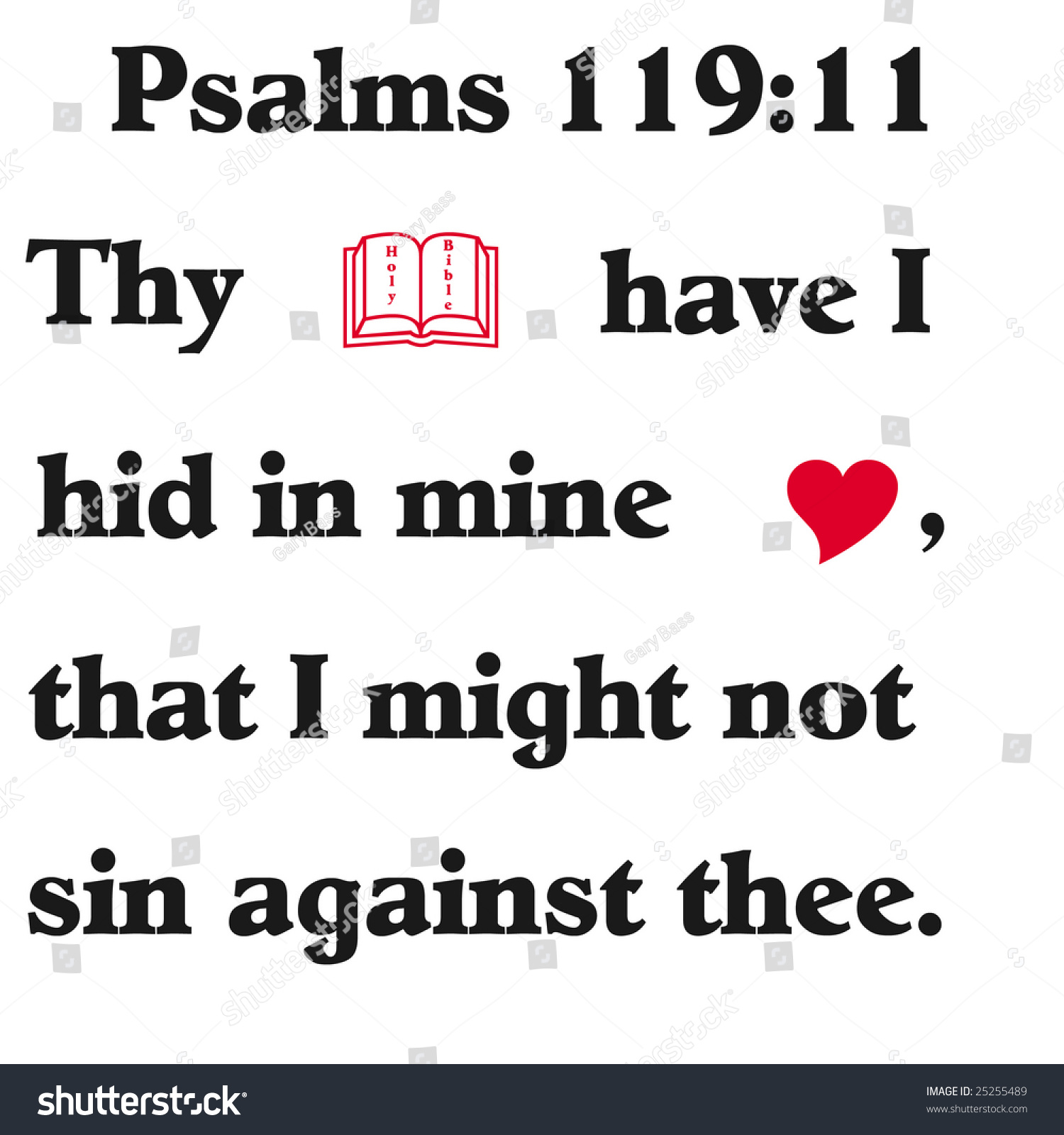 Bible verse symbols on white background stock illustration bible verse with symbols on white background buycottarizona Images