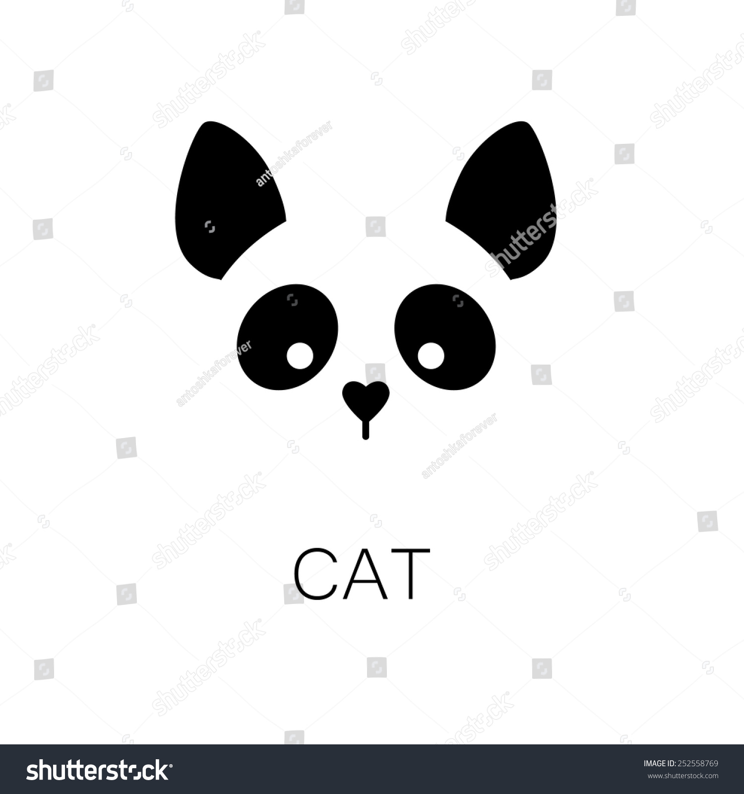 simple sign cat design template stock vector 252558769 shutterstock