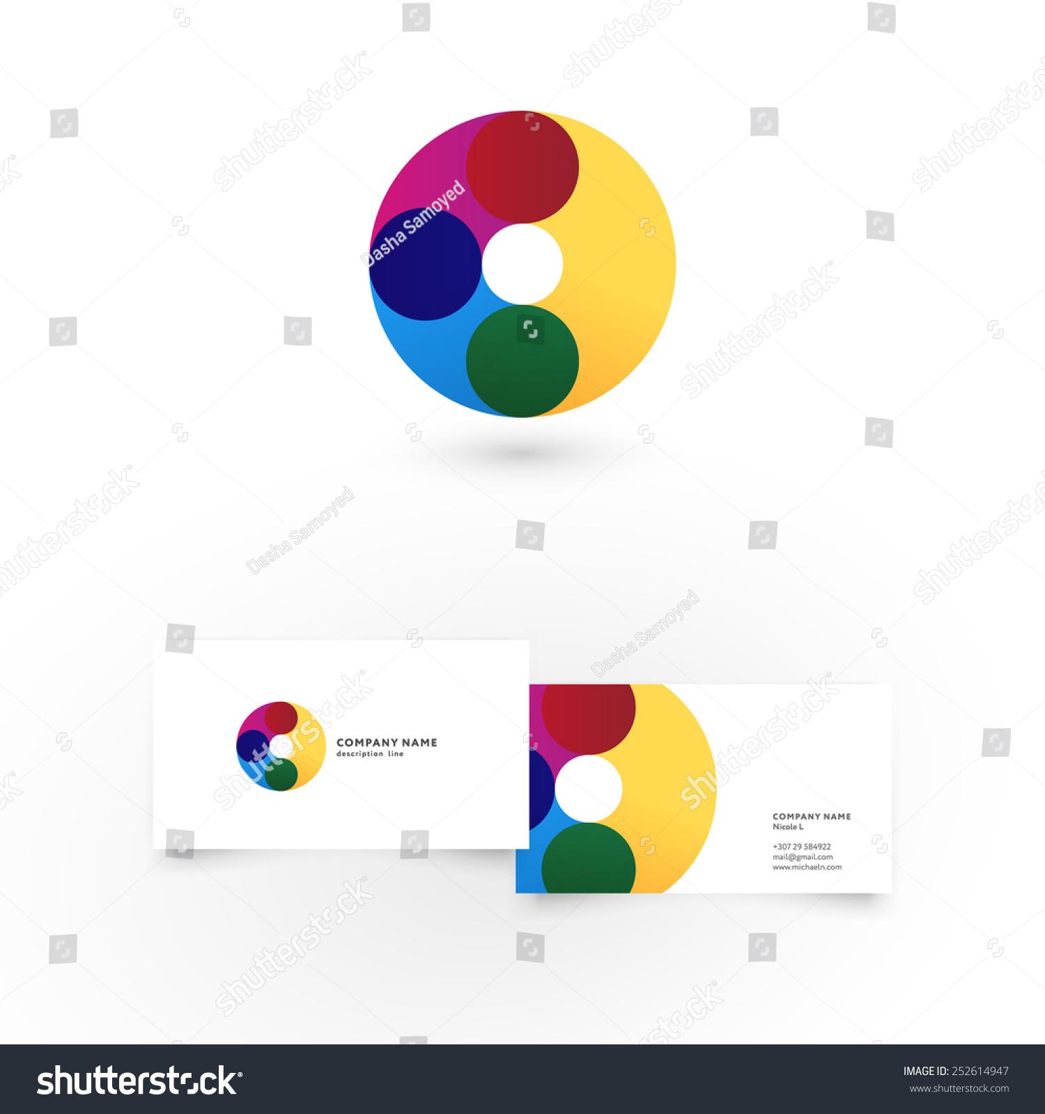 modern icon design o letter shape stock vector
