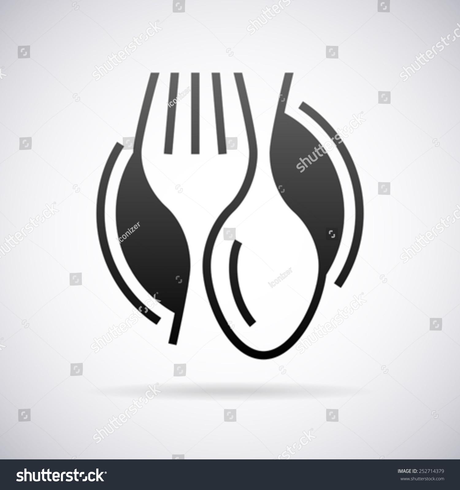food service vector logo design template stock vector 252714379 food service vector logo design template