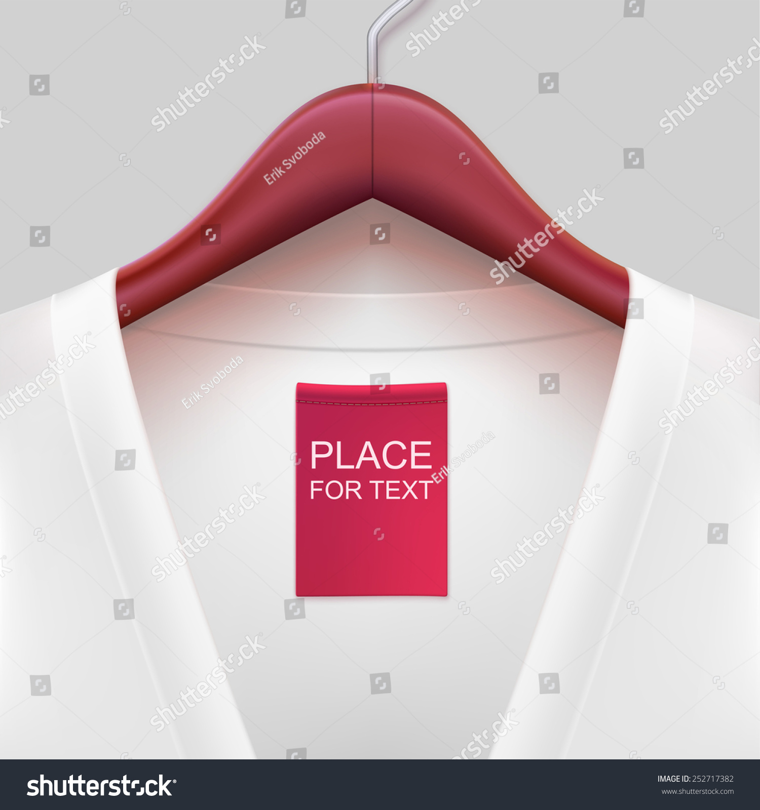 jacket label hanging on hanger template stock vector royalty free