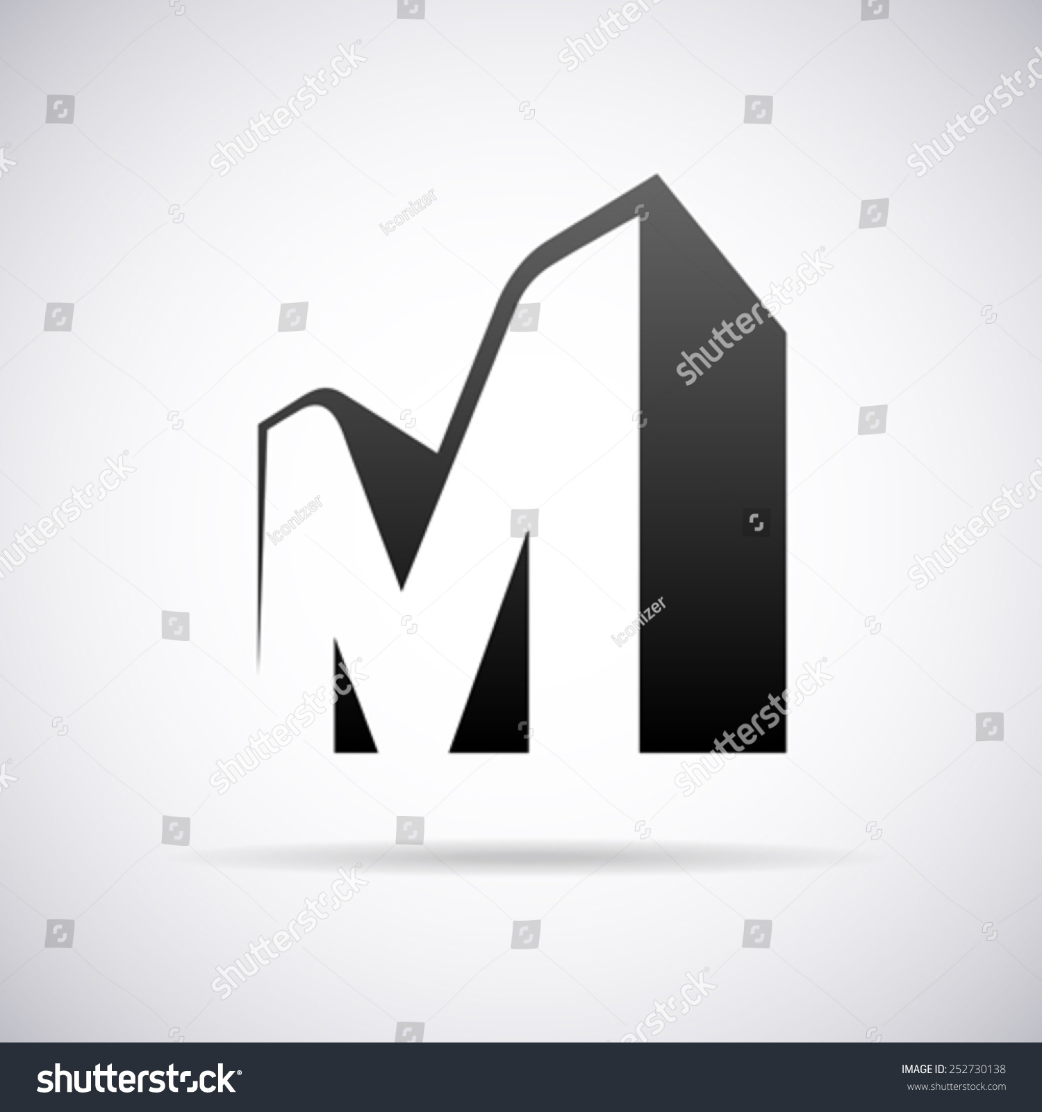 vector logo letter m design template stock vector 252730138 shutterstock. Black Bedroom Furniture Sets. Home Design Ideas