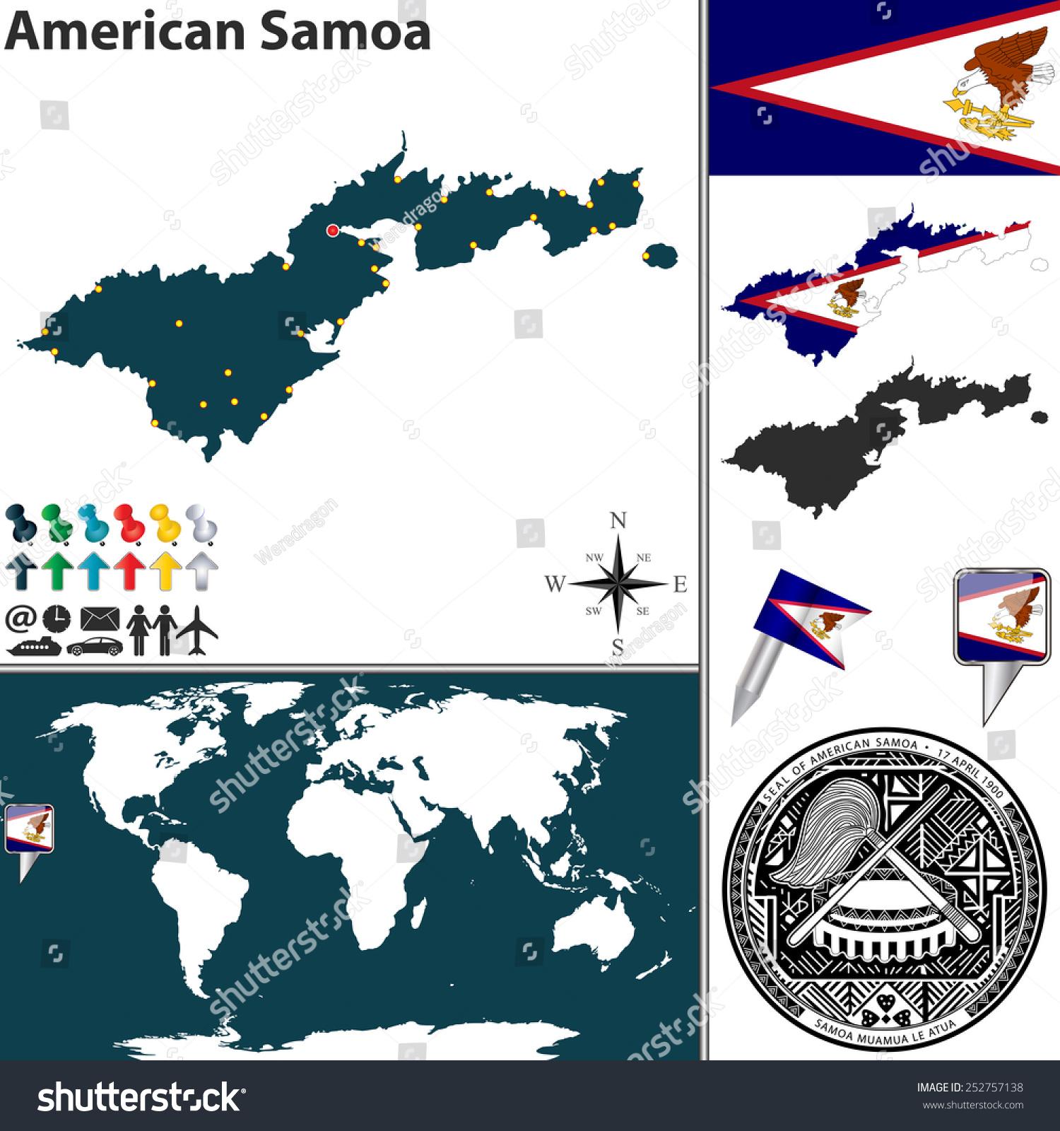 Maps Update 780323 American Samoa Location on World Map Samoa – American Samoa Map World