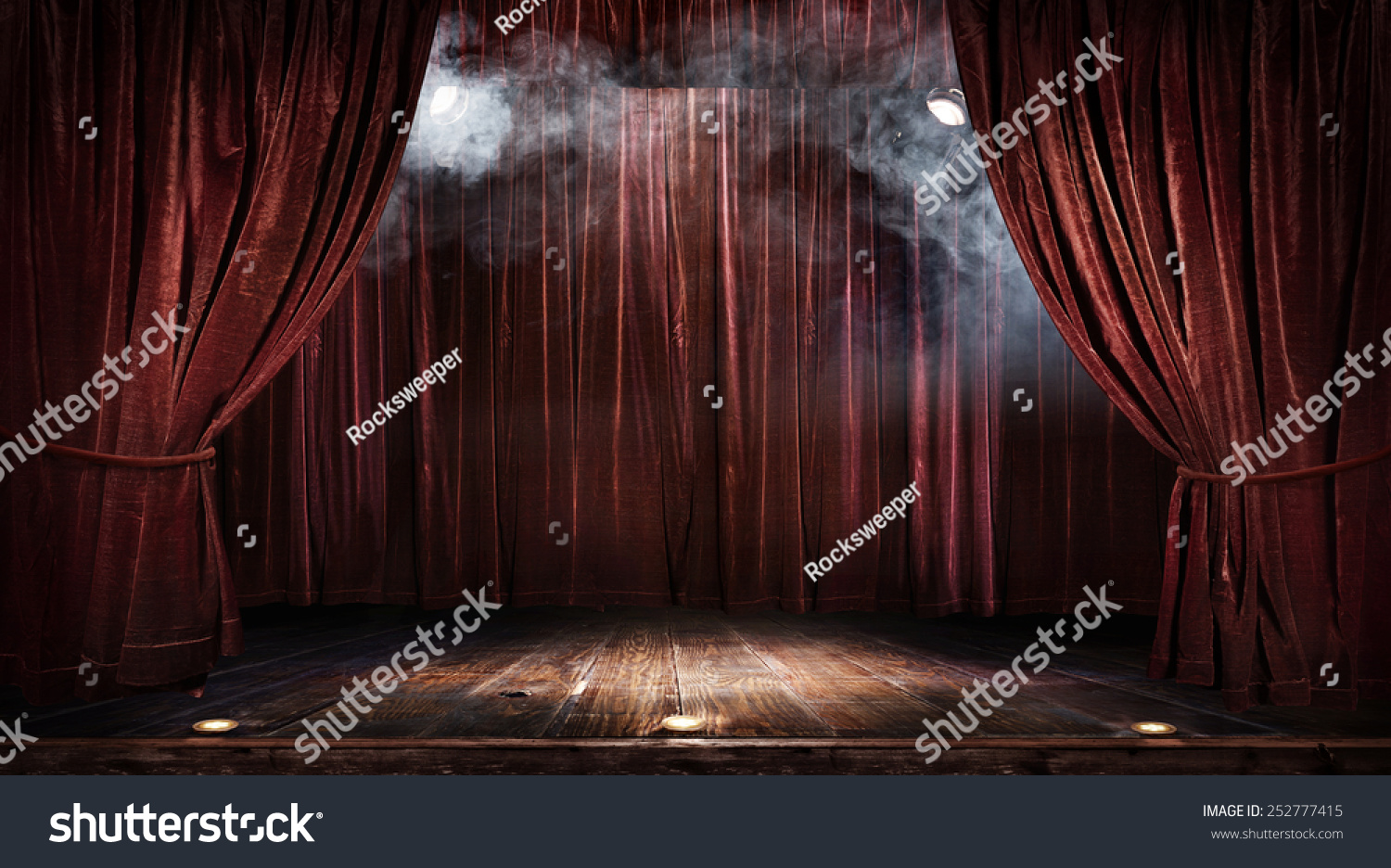 Stage curtains spotlight - Magic Theater Stage Red Curtains Show Spotlight