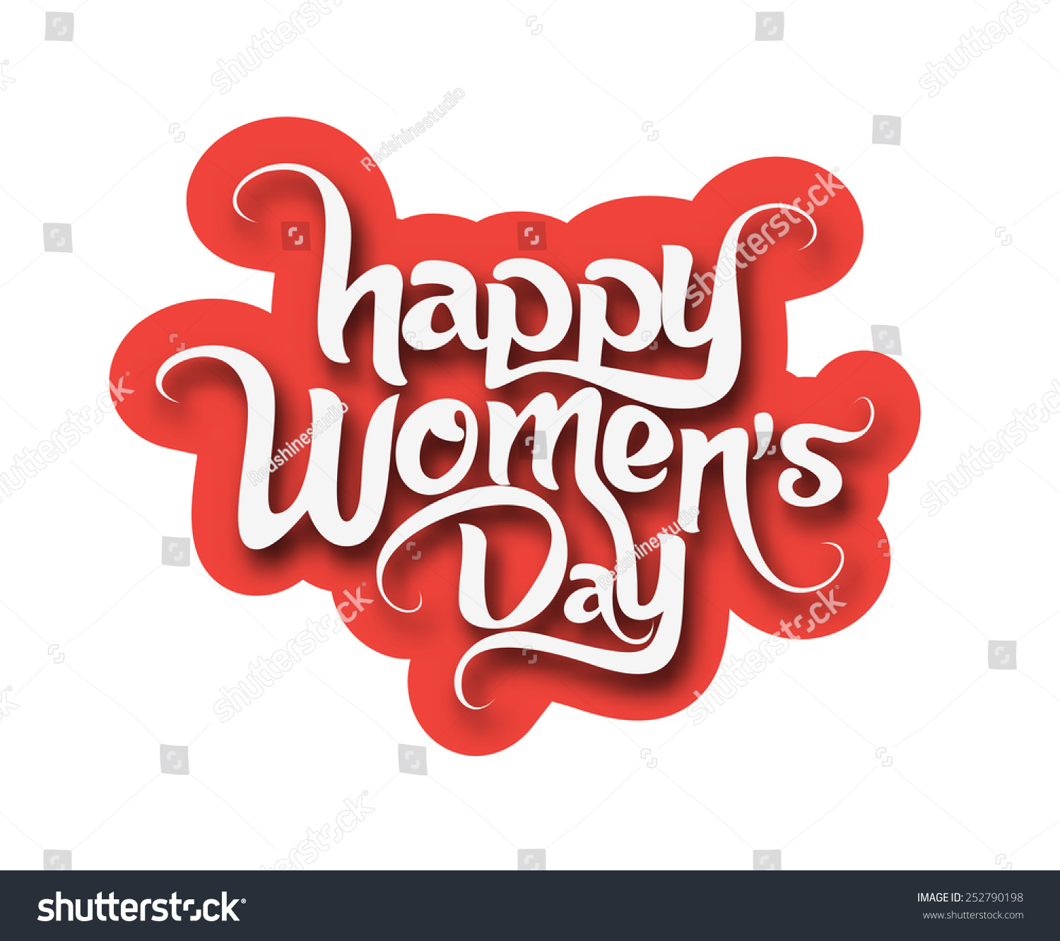 happy womens day text design element stock vector