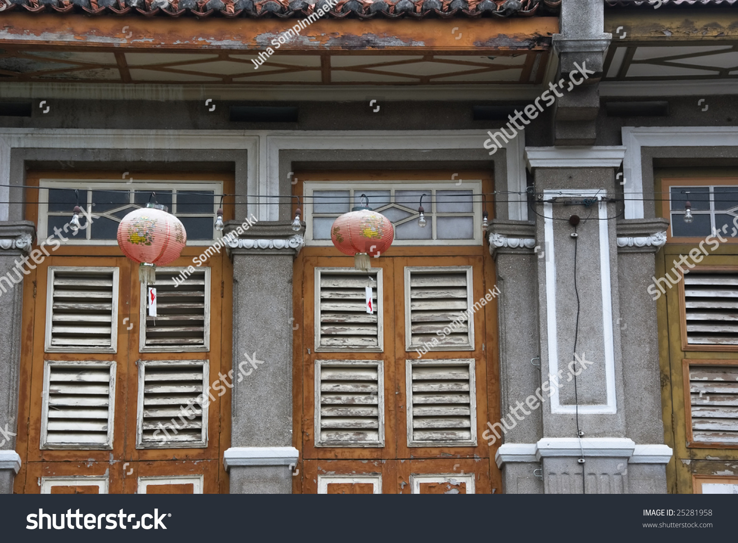 Old Colonial Style Window Shutters Stock Photo 25281958 Shutterstock