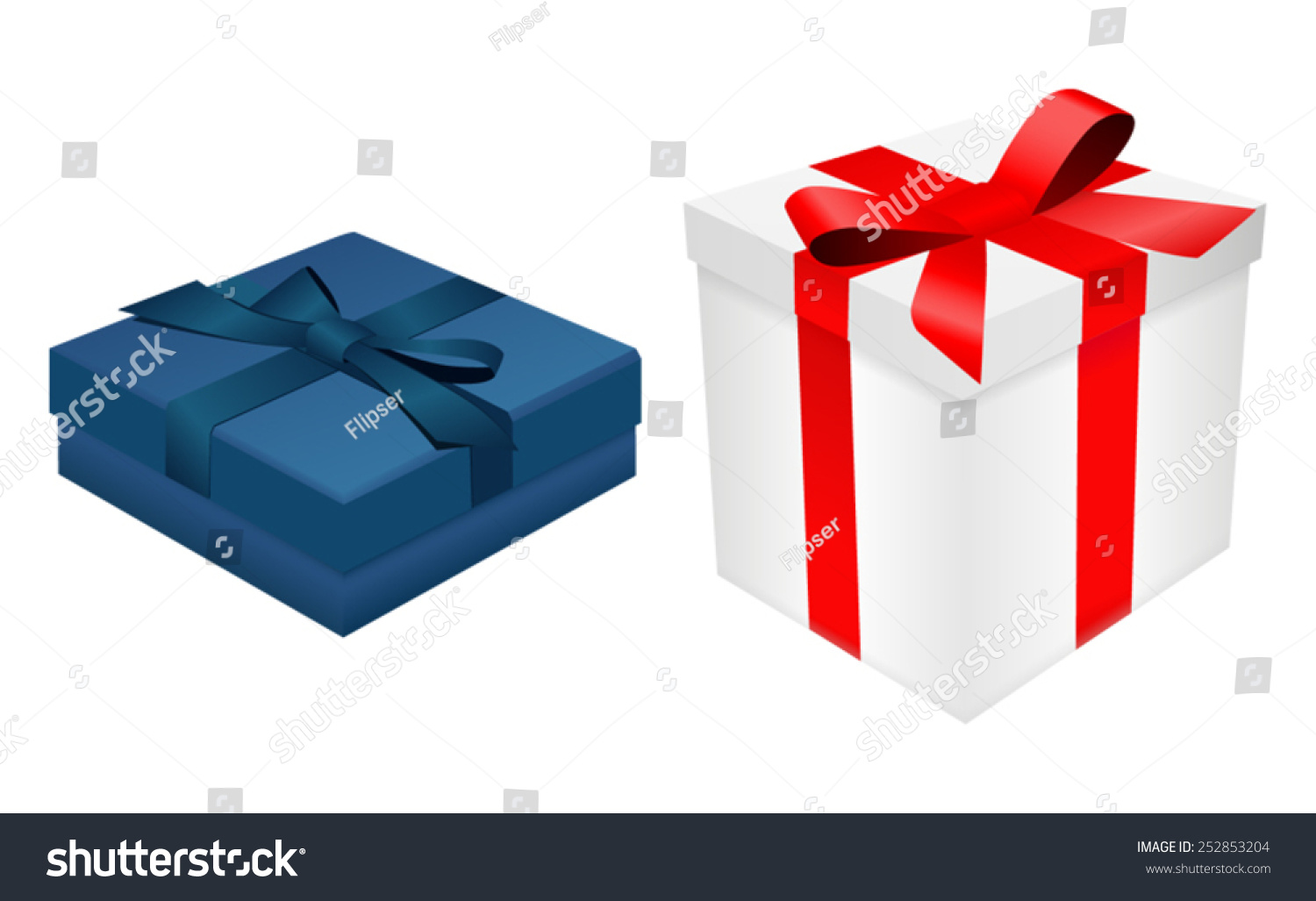 Blue white gift boxes ribbon vector 252853204 blue and white gift boxes with ribbon vector negle Choice Image
