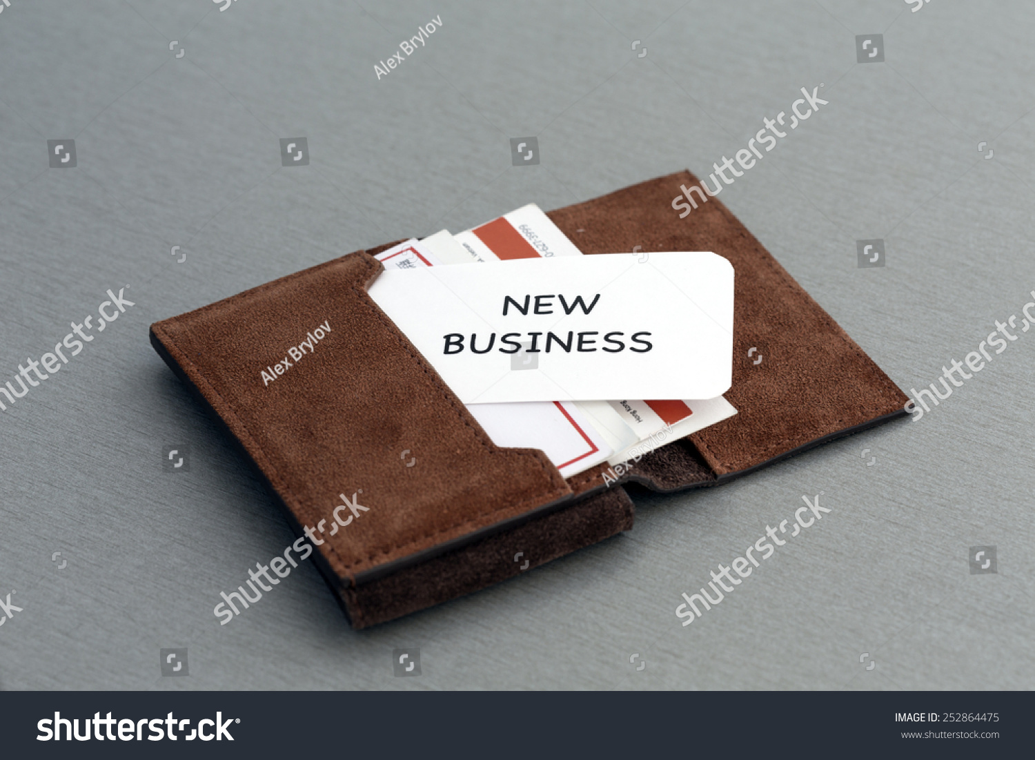 New Business Conceptual Composition Leather Businesscard Stock Photo ...