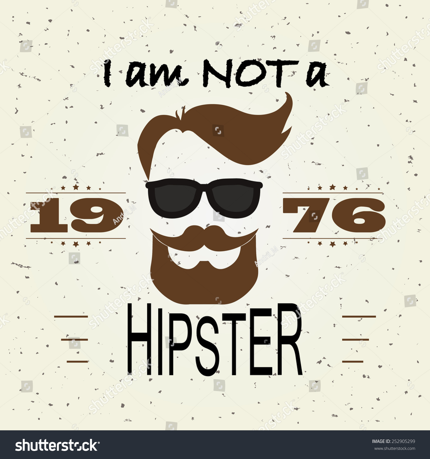 T Shirt Design Hipster Retro Style Typography Template