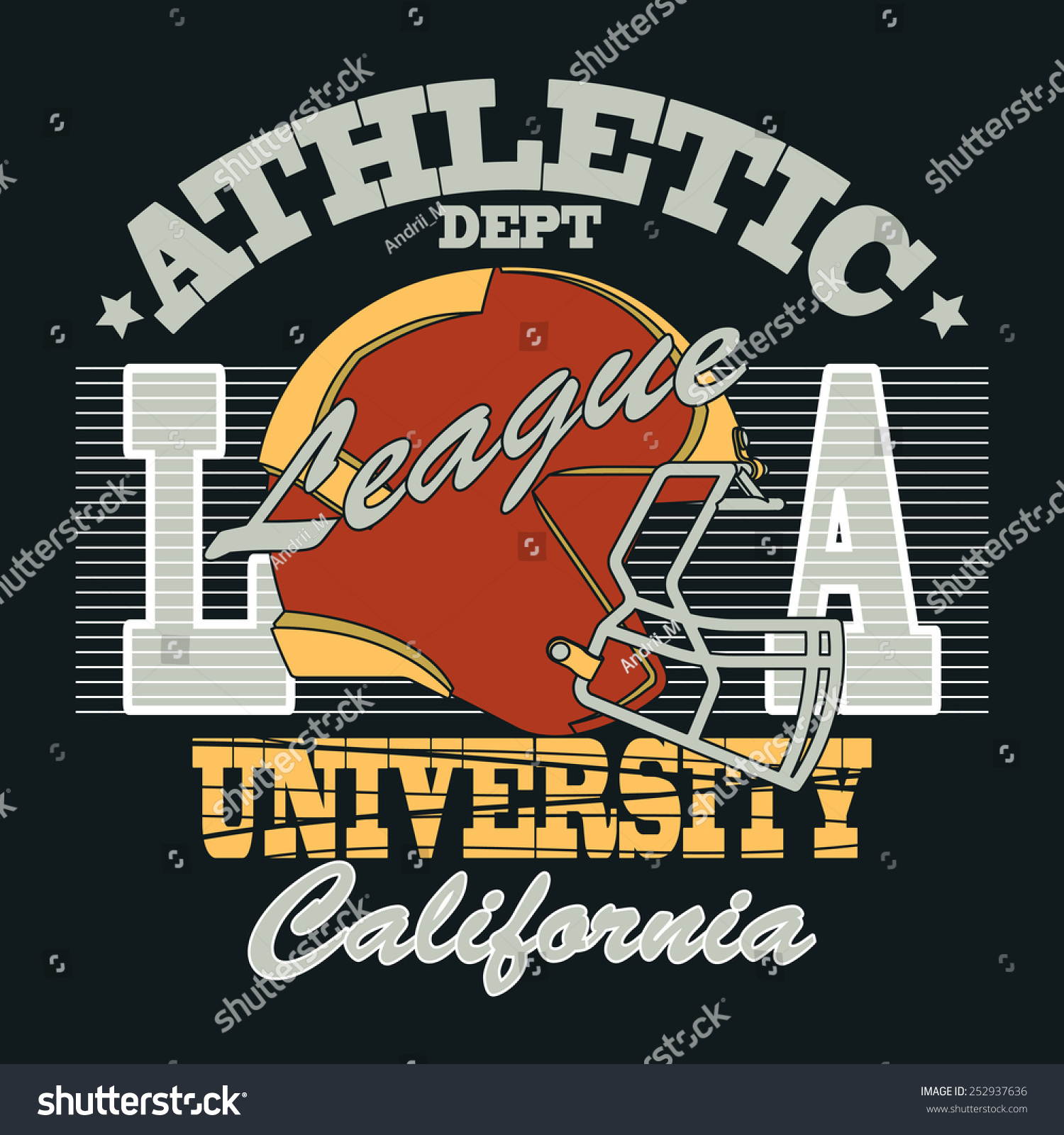 cb79f4cc6 California Sport Typography, University Football Athletic Dept. T-shirt  graphics, Vintage Print