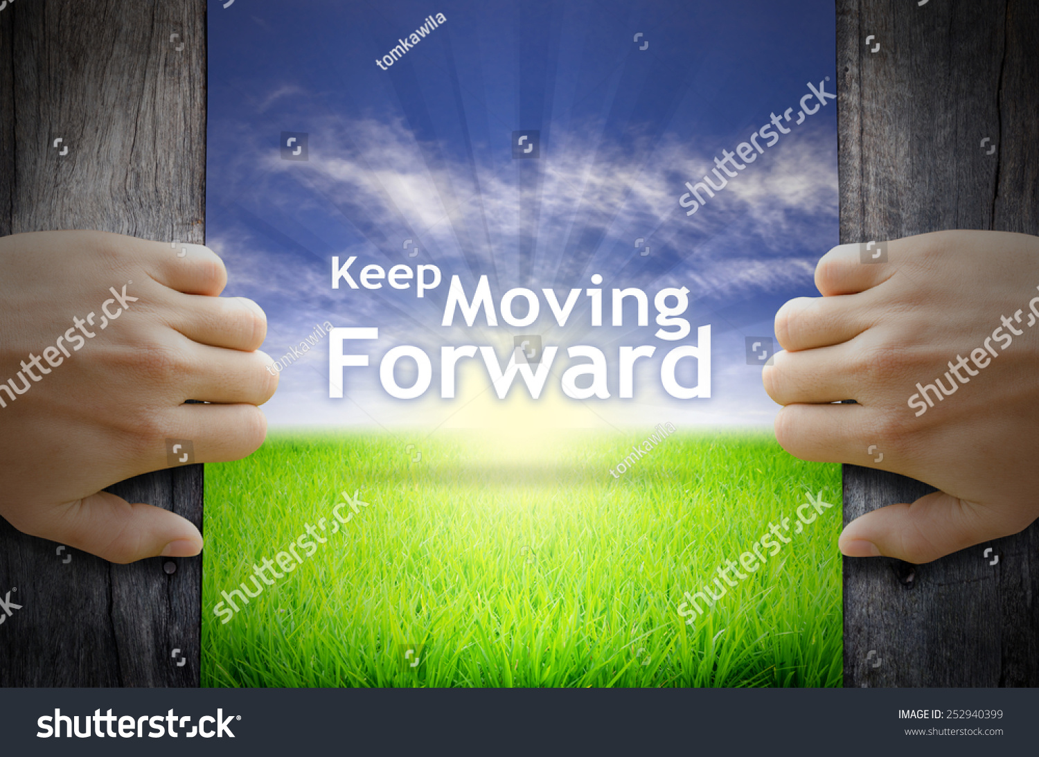 20 Encouraging Quotes About Moving Forward From A Bad: Motivational Quotes Keep Moving Forward Hands Stock Photo