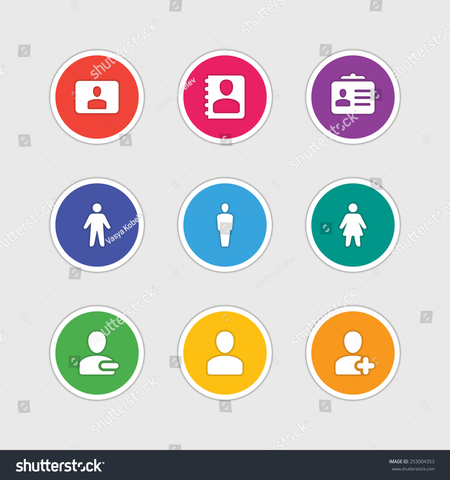 Material Design Style Icons Vector Sign Stock Vector Royalty Free