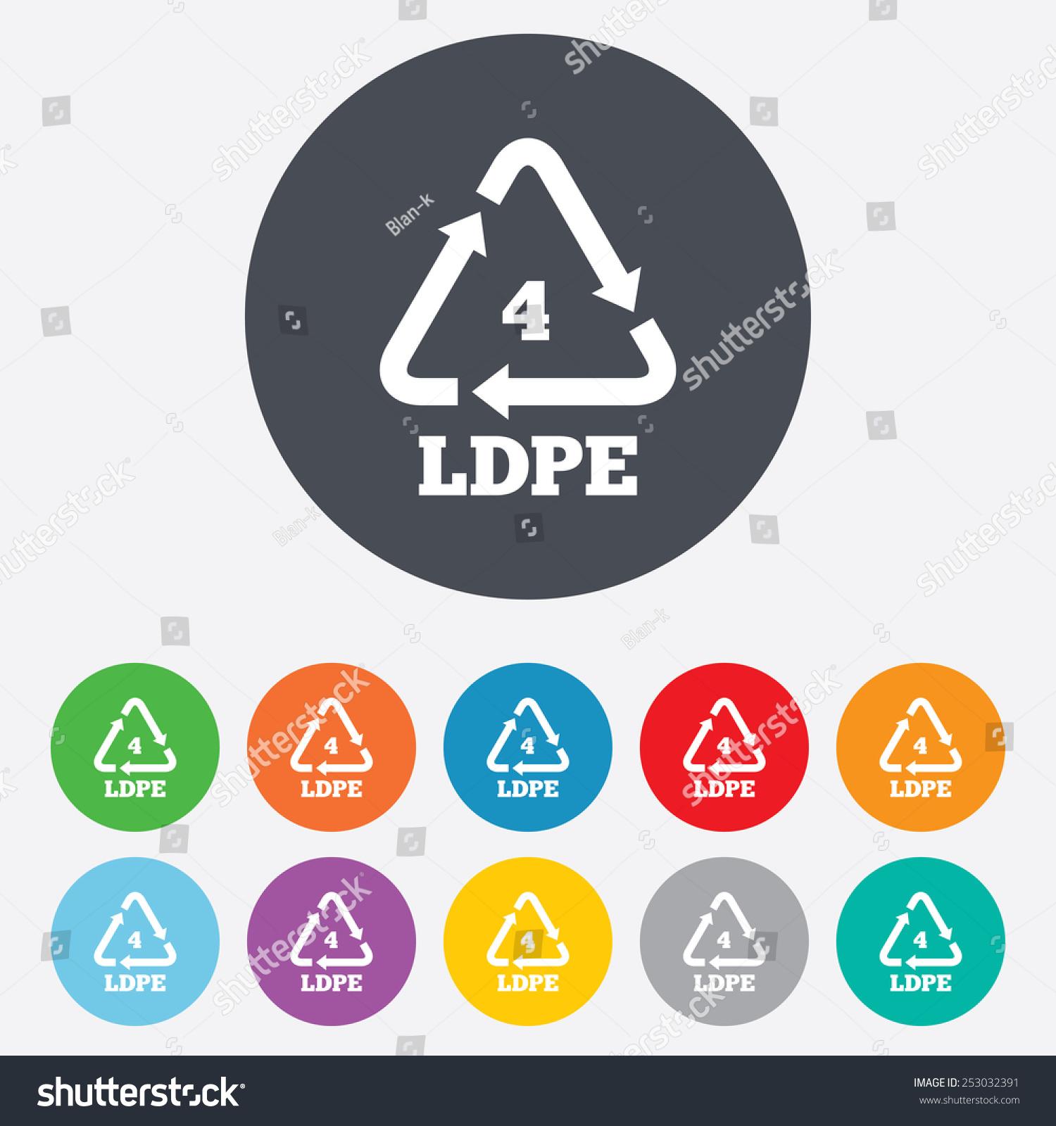 Ldpe 4 icon lowdensity polyethylene sign stock vector 253032391 ld pe 4 icon low density polyethylene sign recycling symbol round biocorpaavc Choice Image