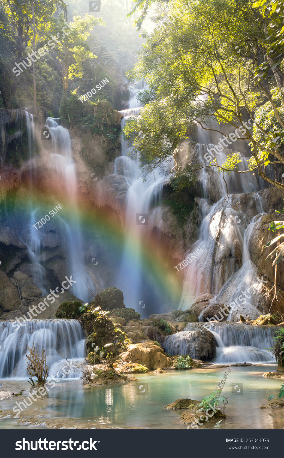 beautiful soft waterfall in - photo #14