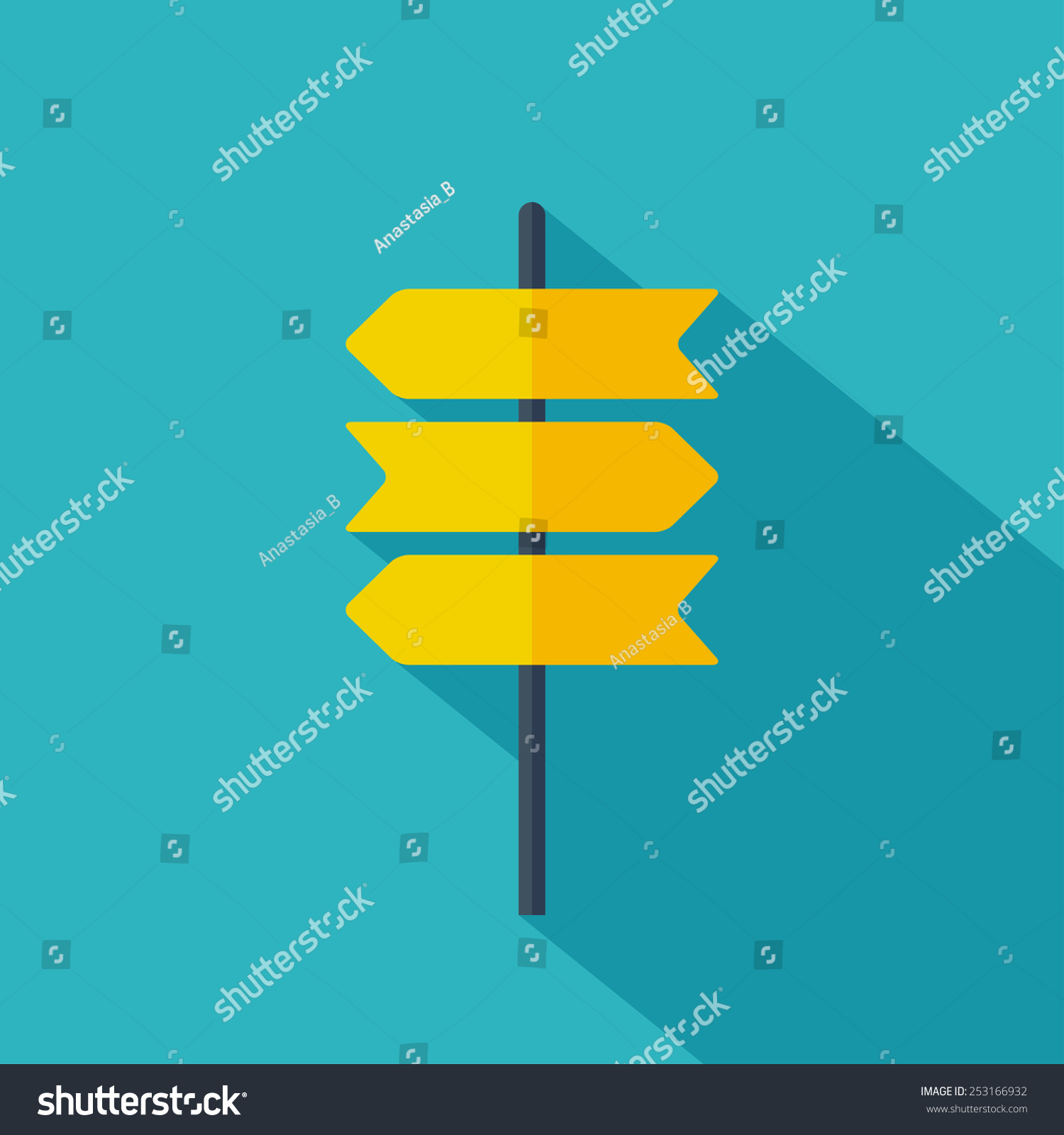 Road sign icon. Flat design. Vector illustration #253166932
