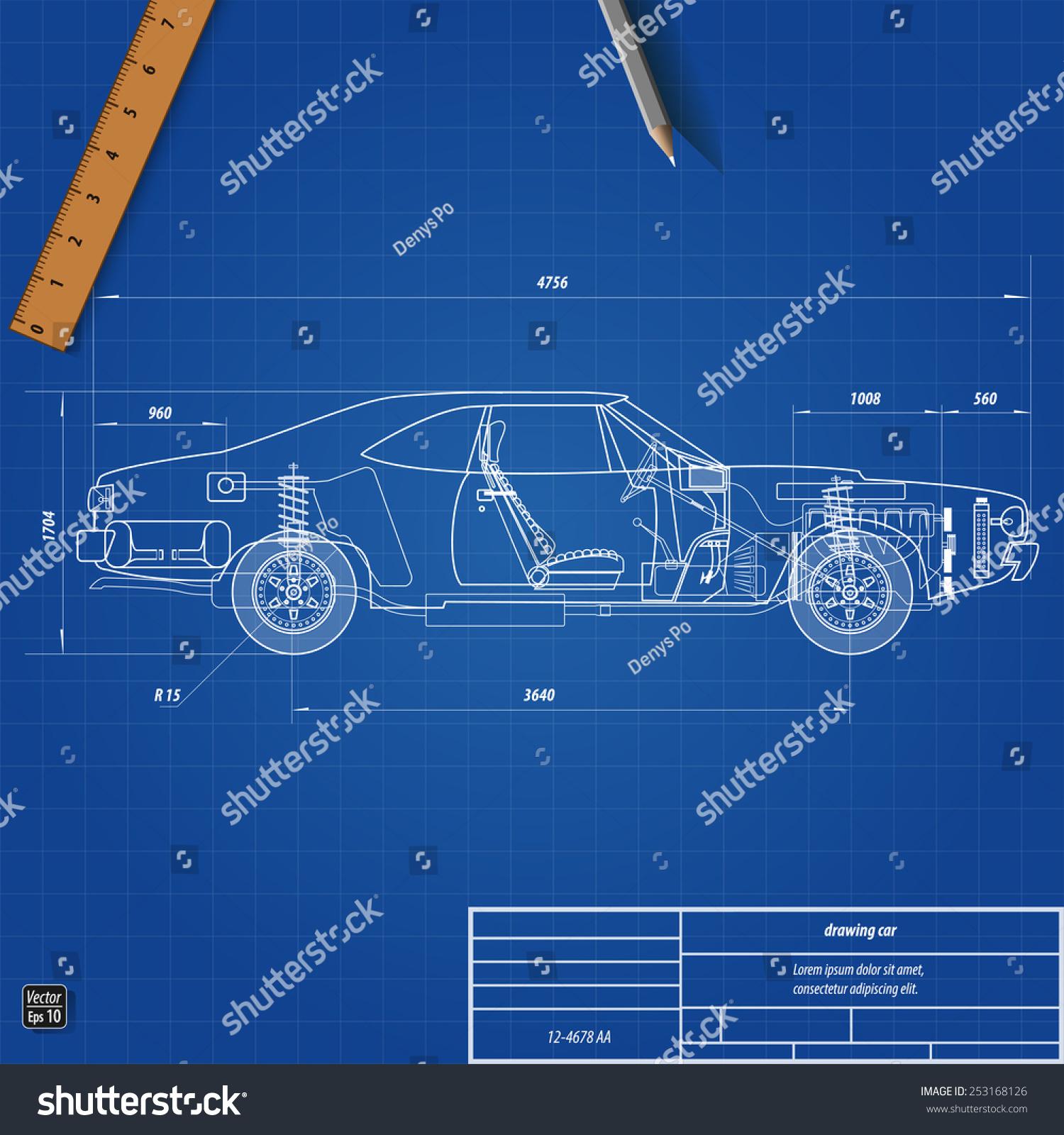 Old car blueprint vector illustration eps vectores en stock old car blueprint vector illustration eps 10 malvernweather Images