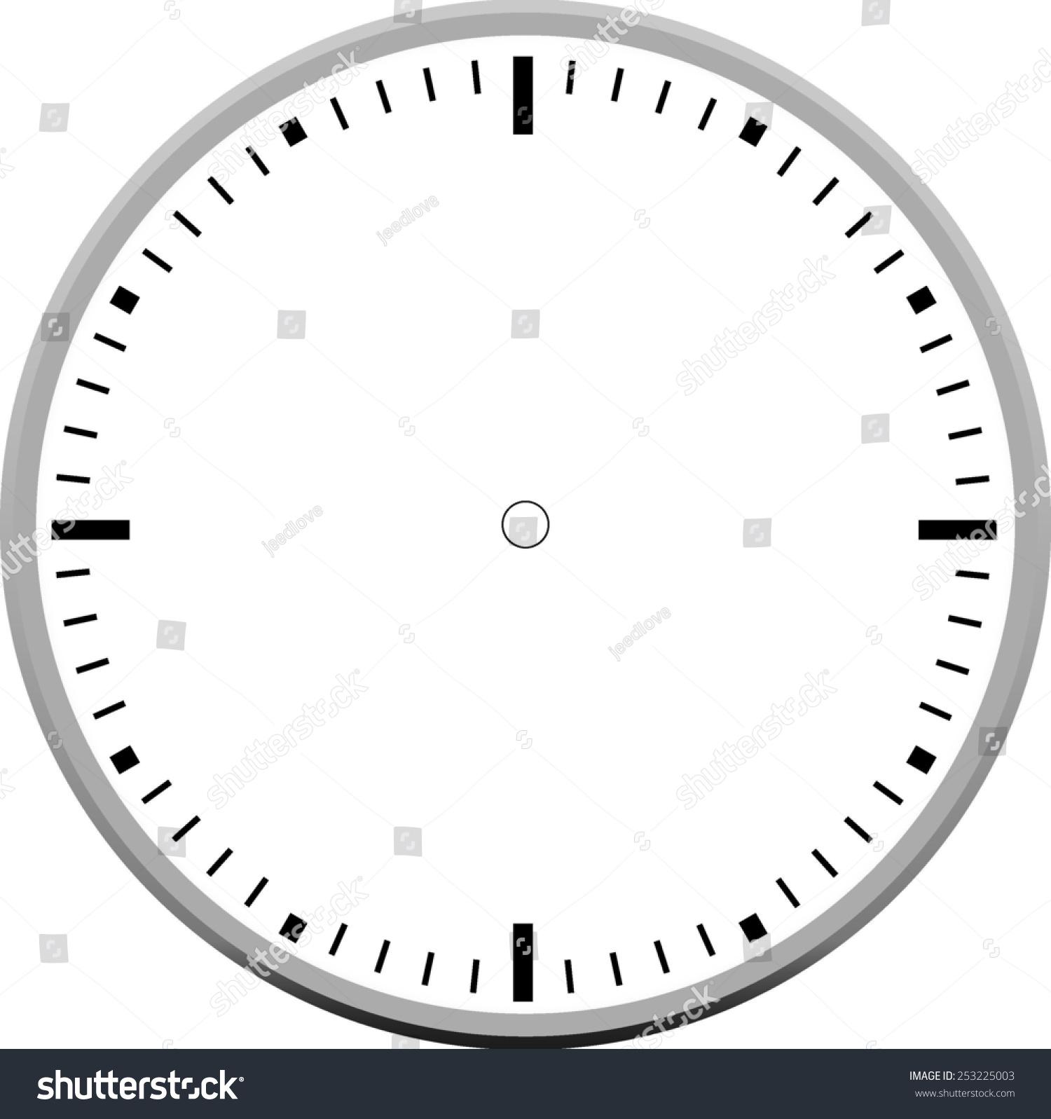 worksheet Clock Blank clock face blank stock vector 253225003 shutterstock blank
