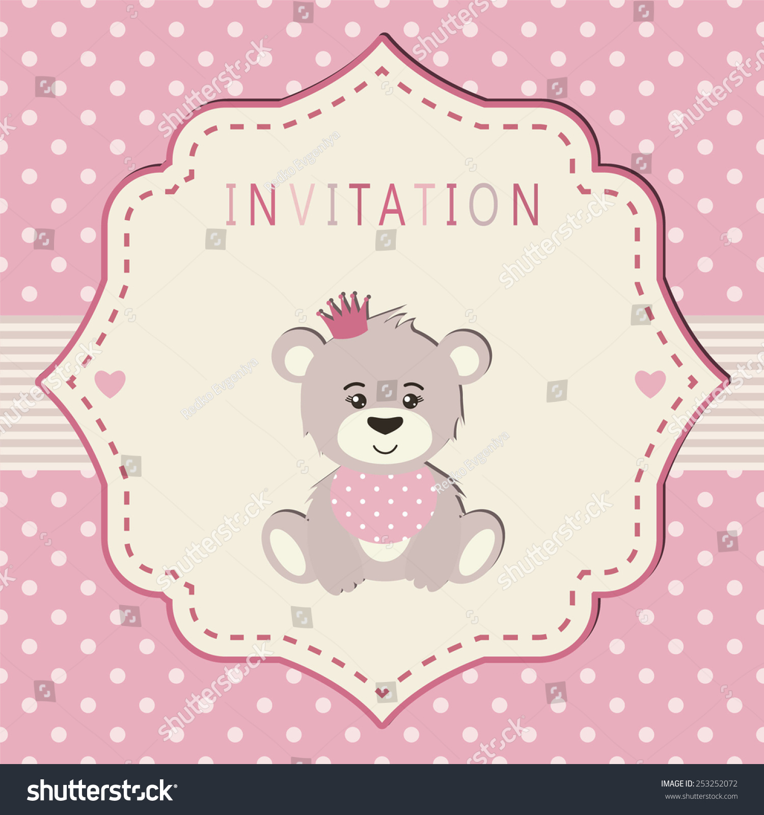 Invitation Baby Shower Party Birthday Party Stock Vector 253252072 ...
