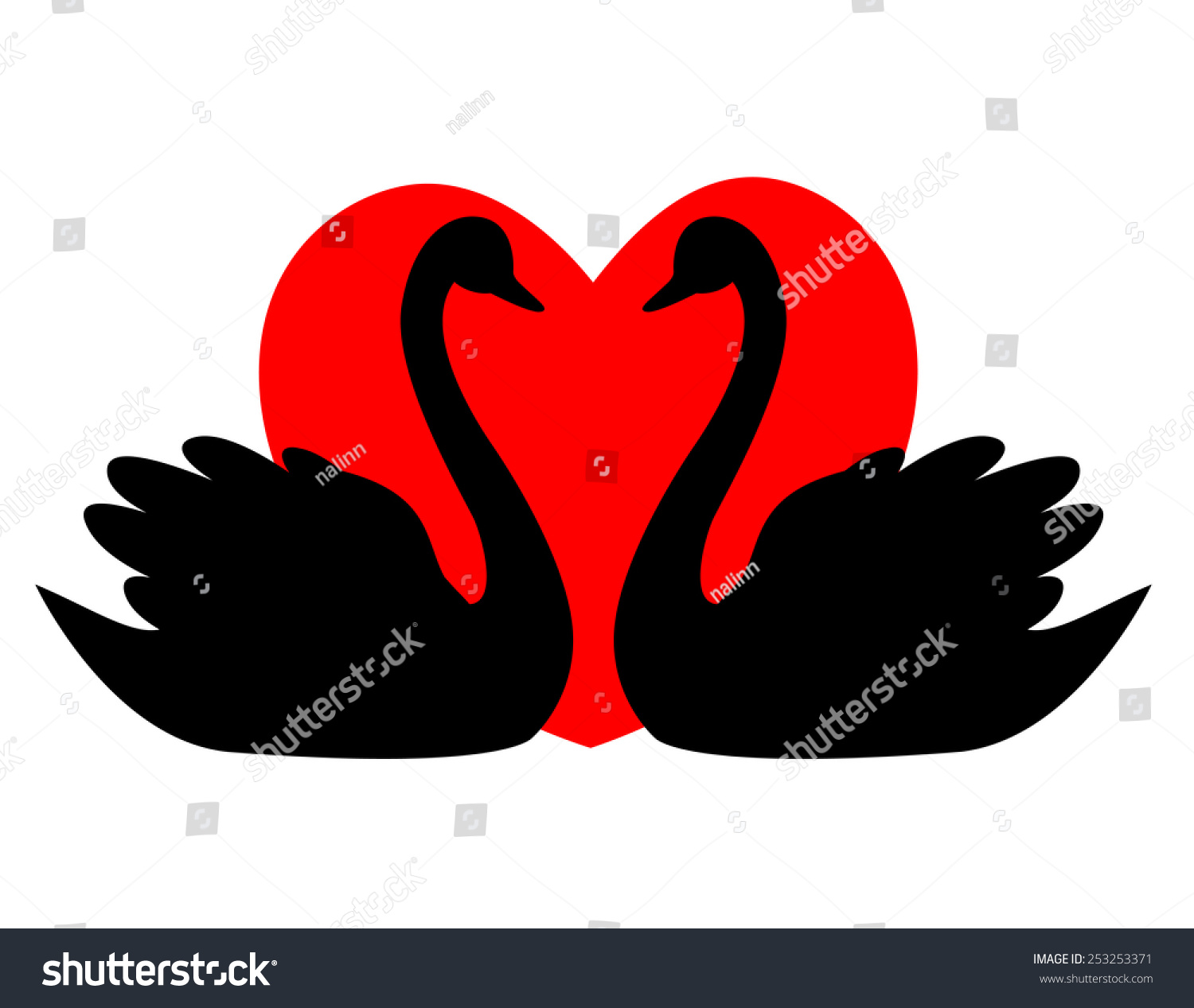 Swan Couple Love Illustration Clipart Isolated Stock Vector HD ...
