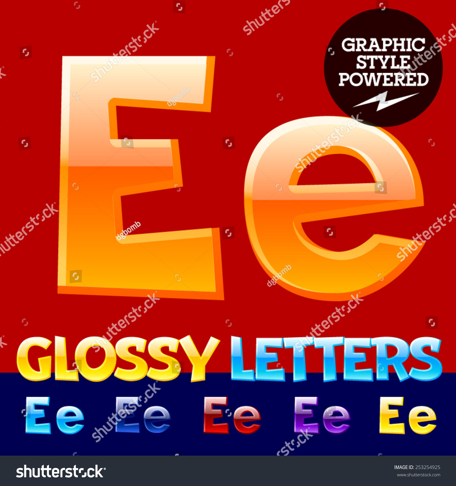 Vector Set Glossy Modern Alphabet Different Stock Photo Photo
