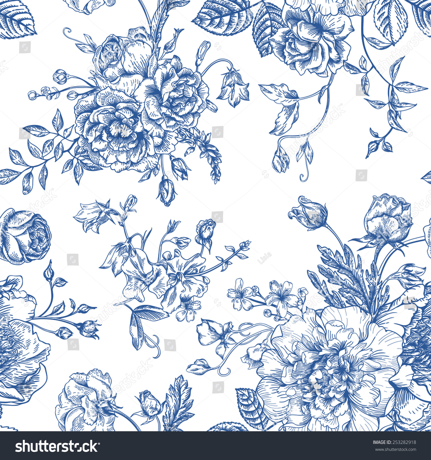 Royalty-free Seamless vector vintage pattern with
