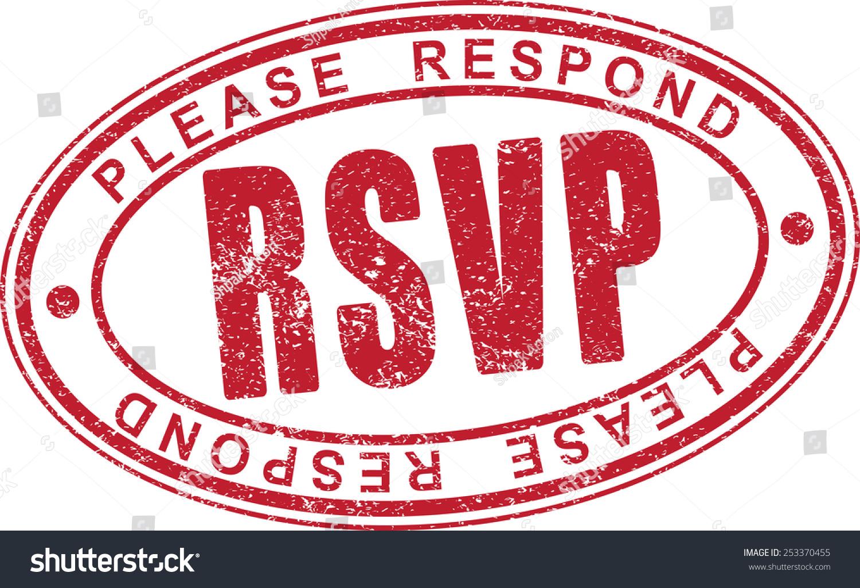 Rsvp Clip Art rsvp rubber stamp. stock vector illustration 253370455 ...