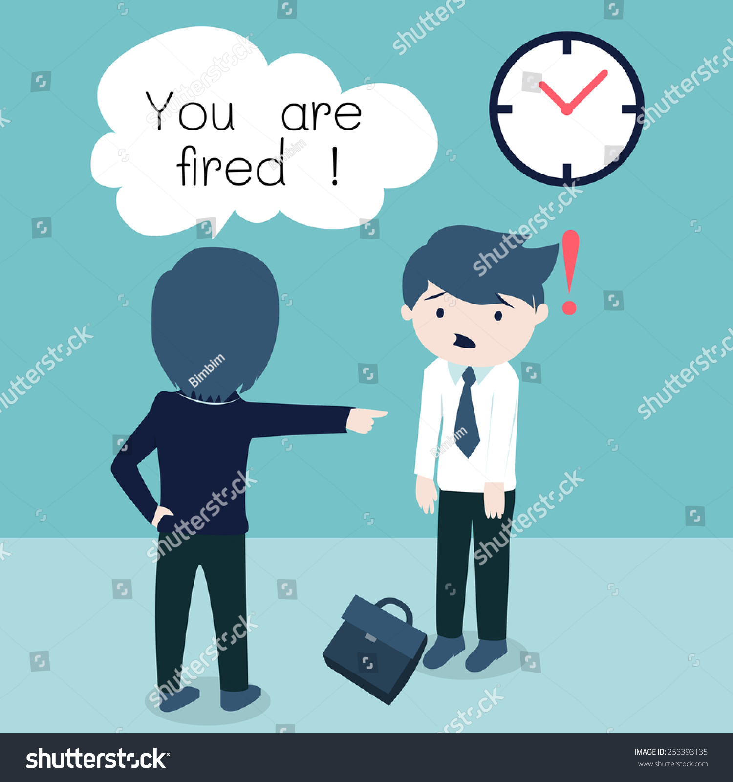 salary man office staff getting fired stock vector  a salary man or and office staff getting fired due to he came to work late