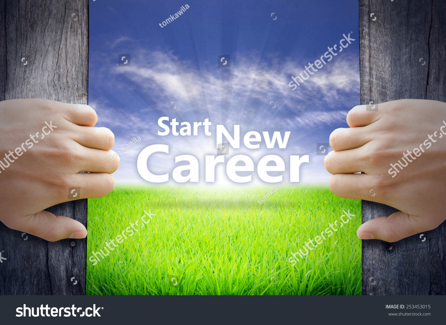 Start New Career Motivational Quotes Hands Stock Photo 253453015 ...