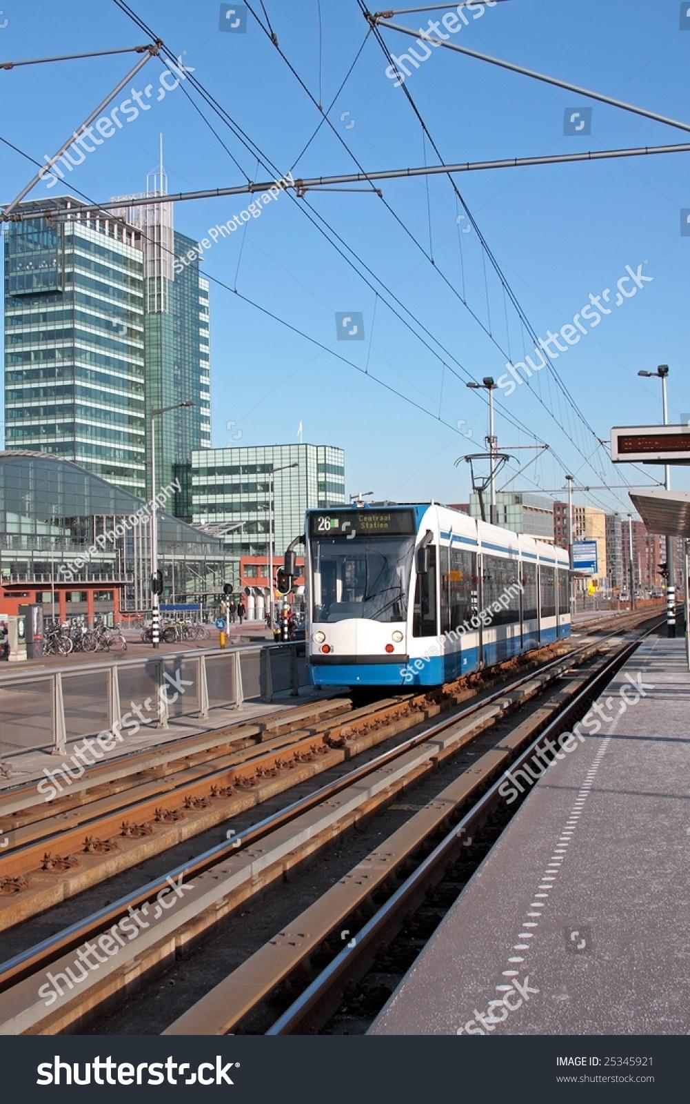 Public Transport Running In Amsterdam The Netherlands ...
