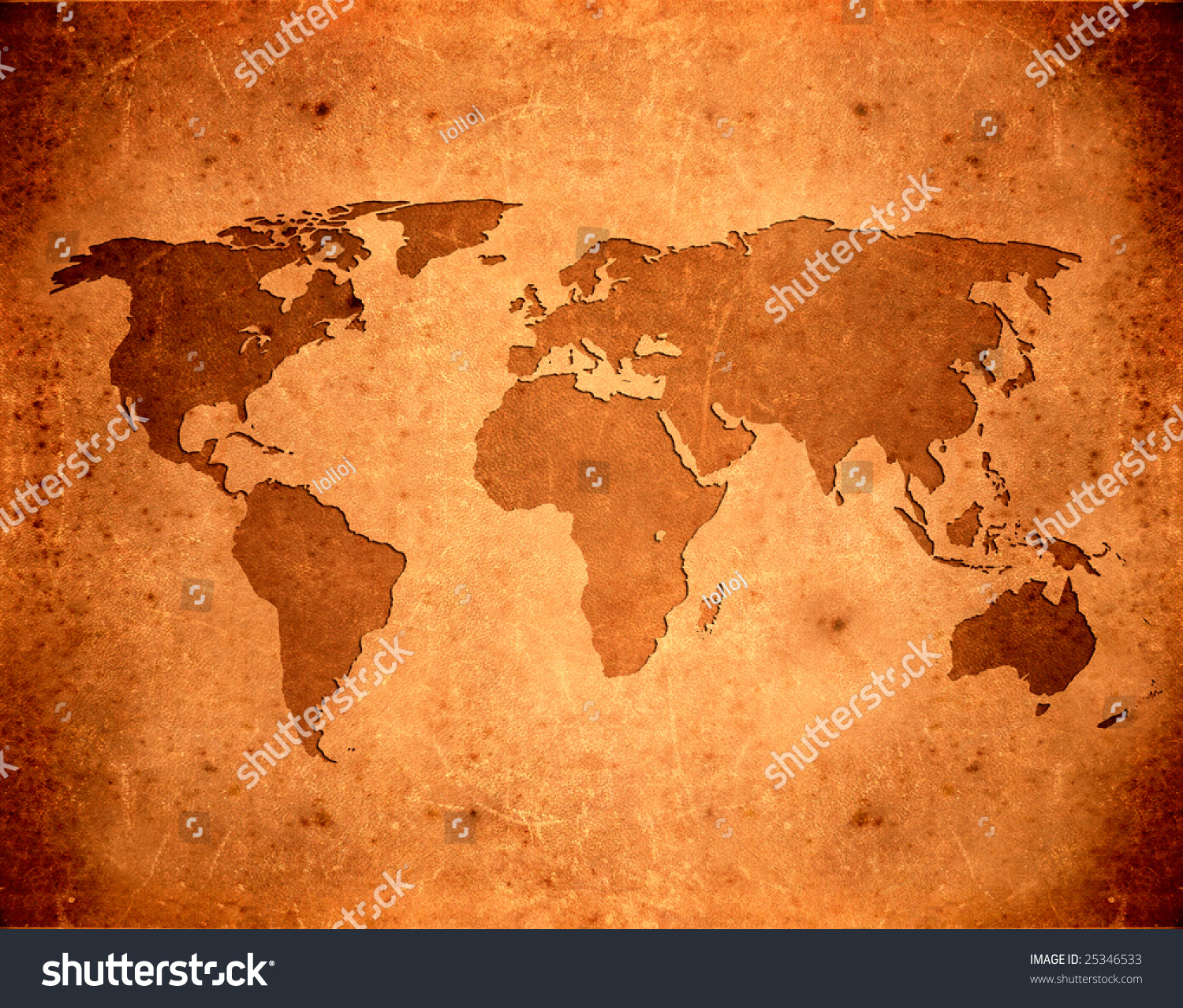 Brown leather aged grunge world map stock illustration 25346533 brown leather aged grunge world map gumiabroncs Gallery
