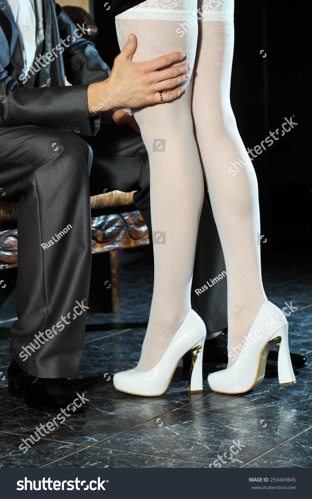 Girl White Stockings Seduces Man Indoors Stock Photo 253469845 - Shutterstock-3028