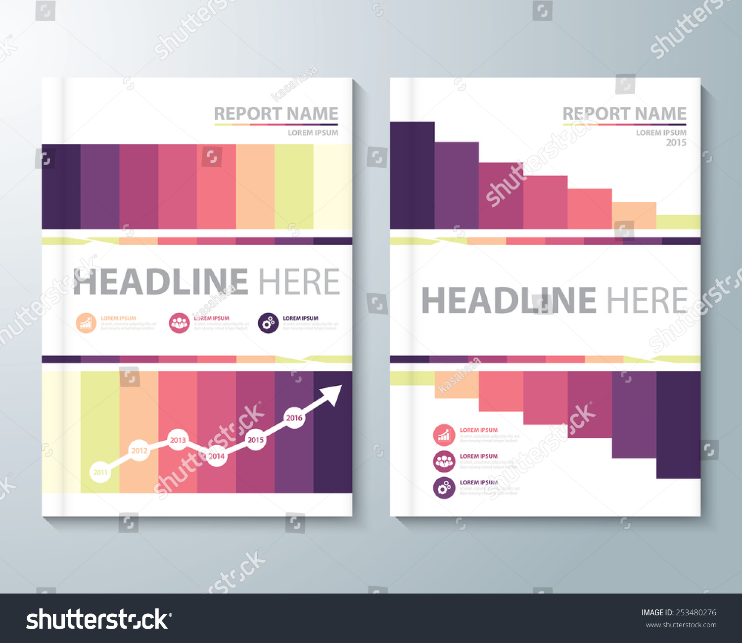 abstract retro background cover design template layout in a size cover design template layout in a4 size for annual report brochure preview save to a lightbox