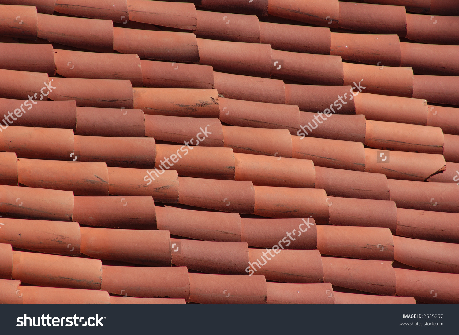 Red Adobe Roof Tile Stock Photo 2535257 Shutterstock