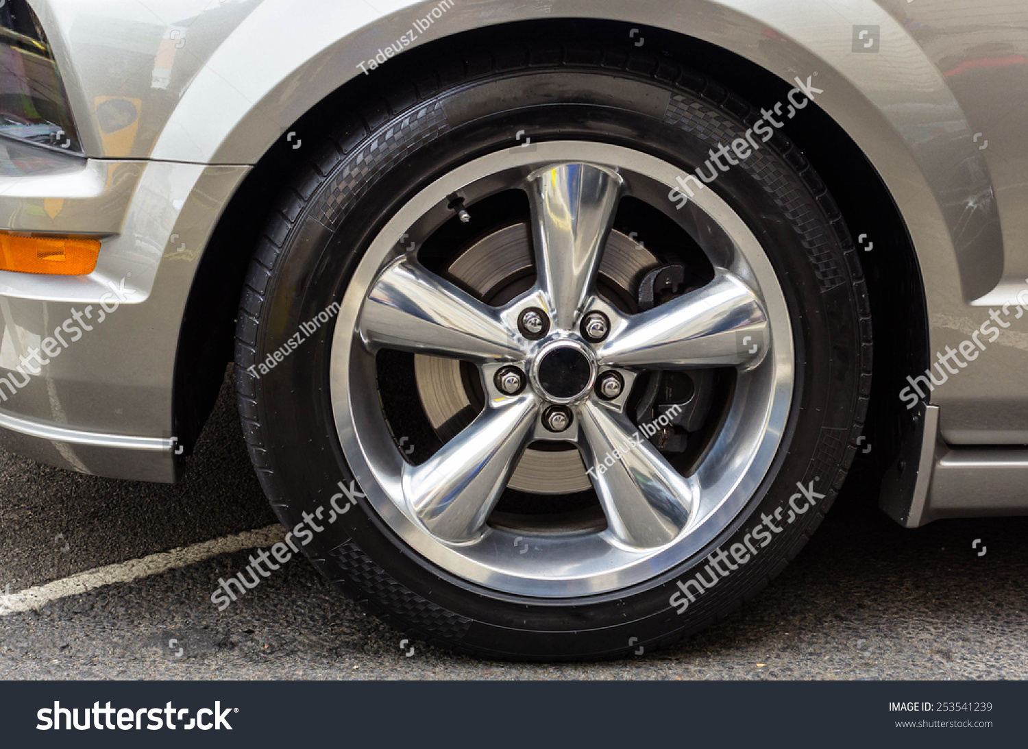 Sports Car Wheels Low Profile Tires Stock Photo Edit Now 253541239