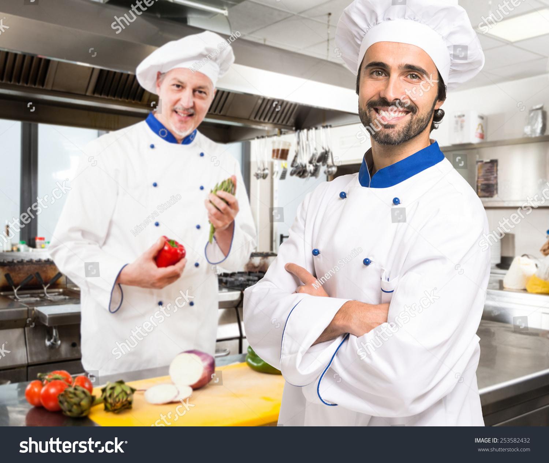 Chefs Work Restaurant Kitchen Stock Photo Edit Now 253582432