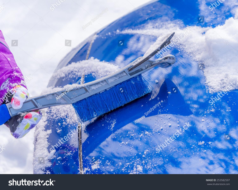 Removal Snow Car Body Brush Stock Photo 253582597 ...