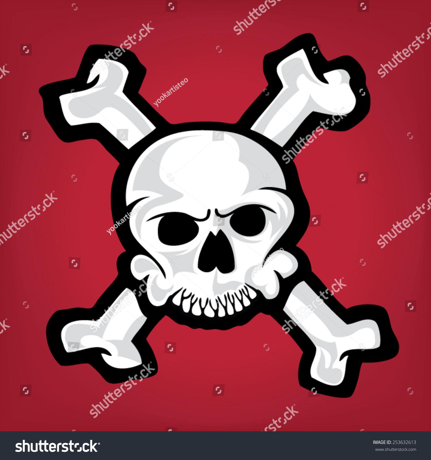 Illustration Skull Bones Stock Vector Royalty Free 253632613